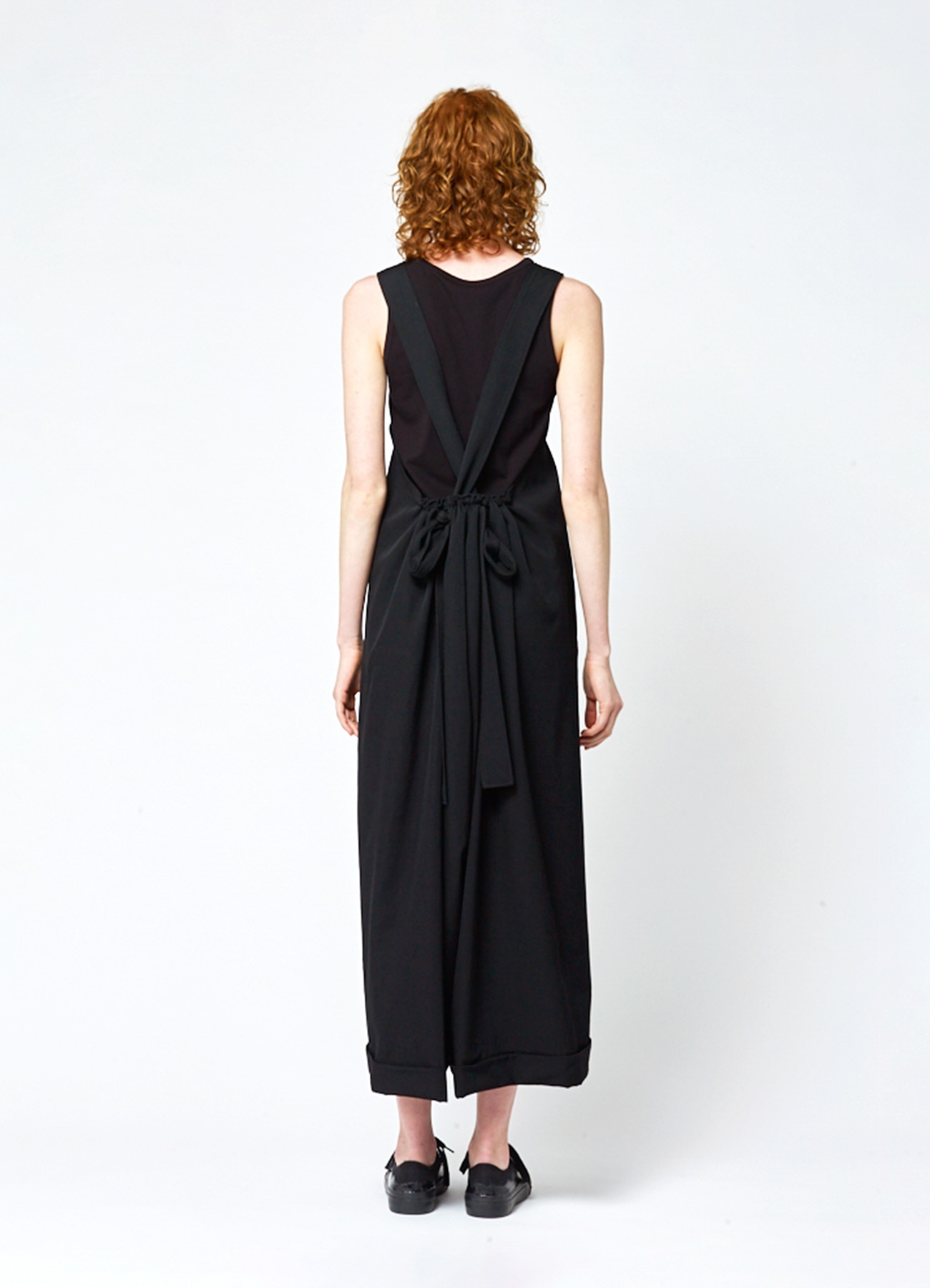 GABARDINE BACK GATHER OVERALLS
