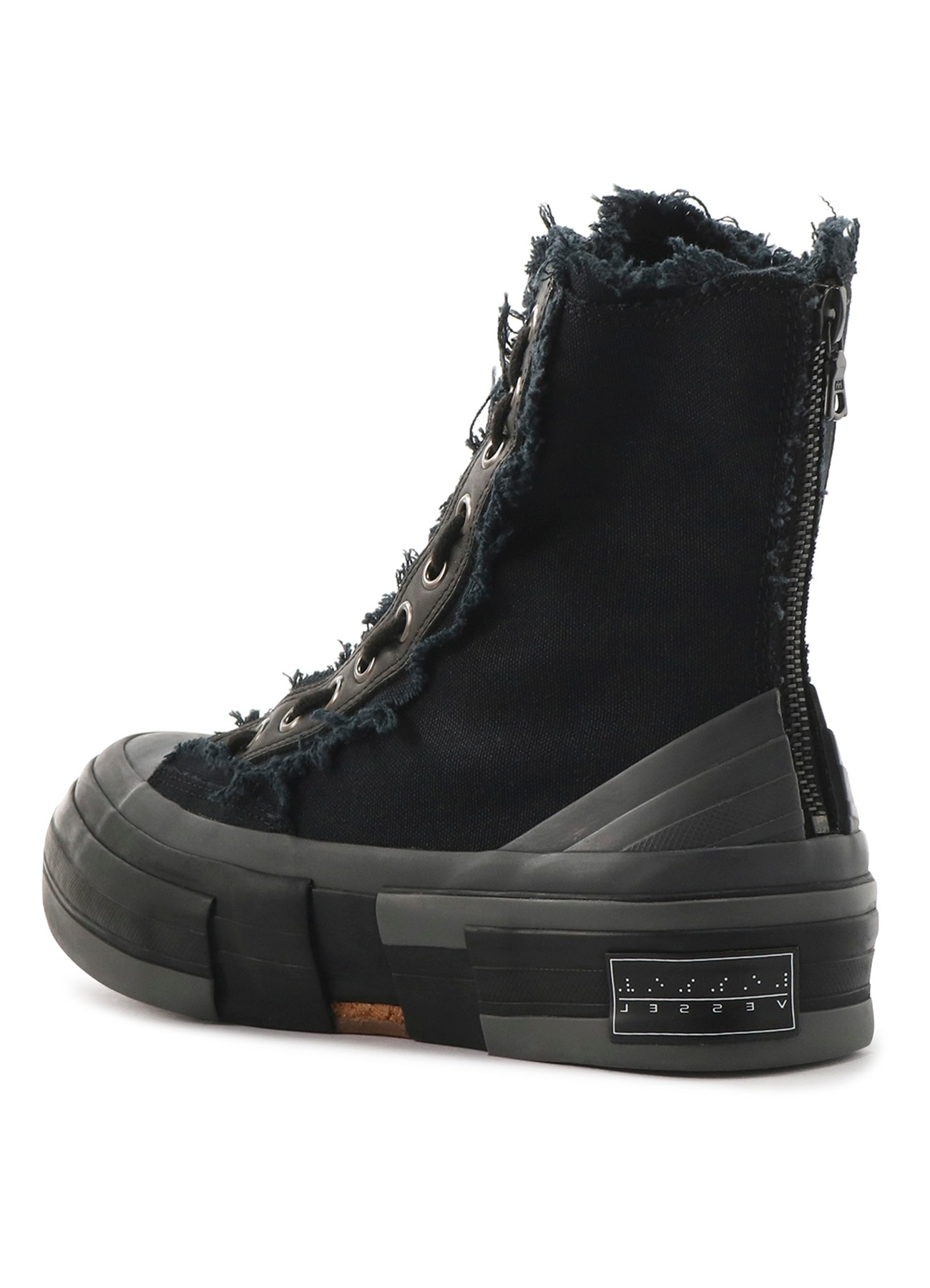 C/CAMPUS BK ZIPPER HIGH TOP SNEAKER