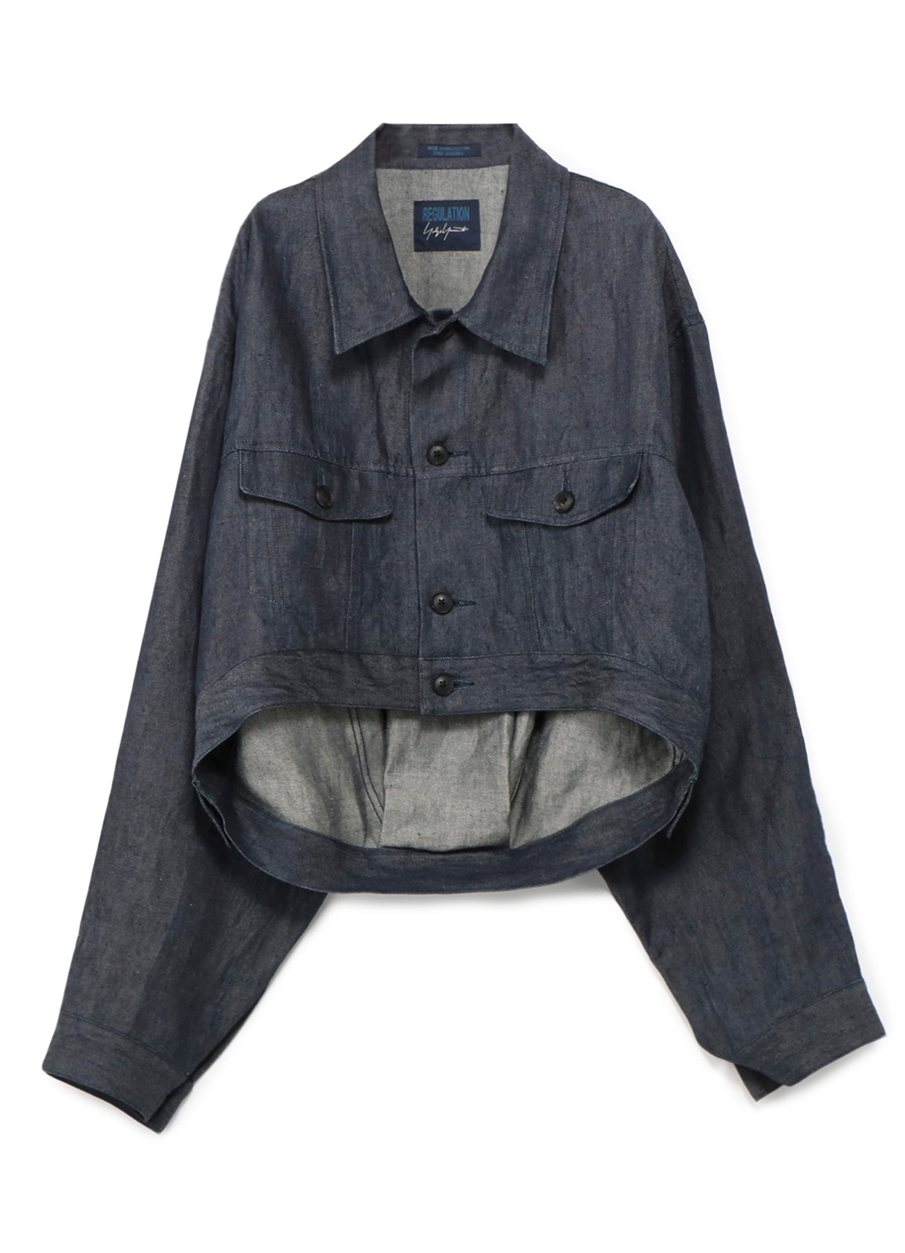 10 oz linen denim-short G jacket