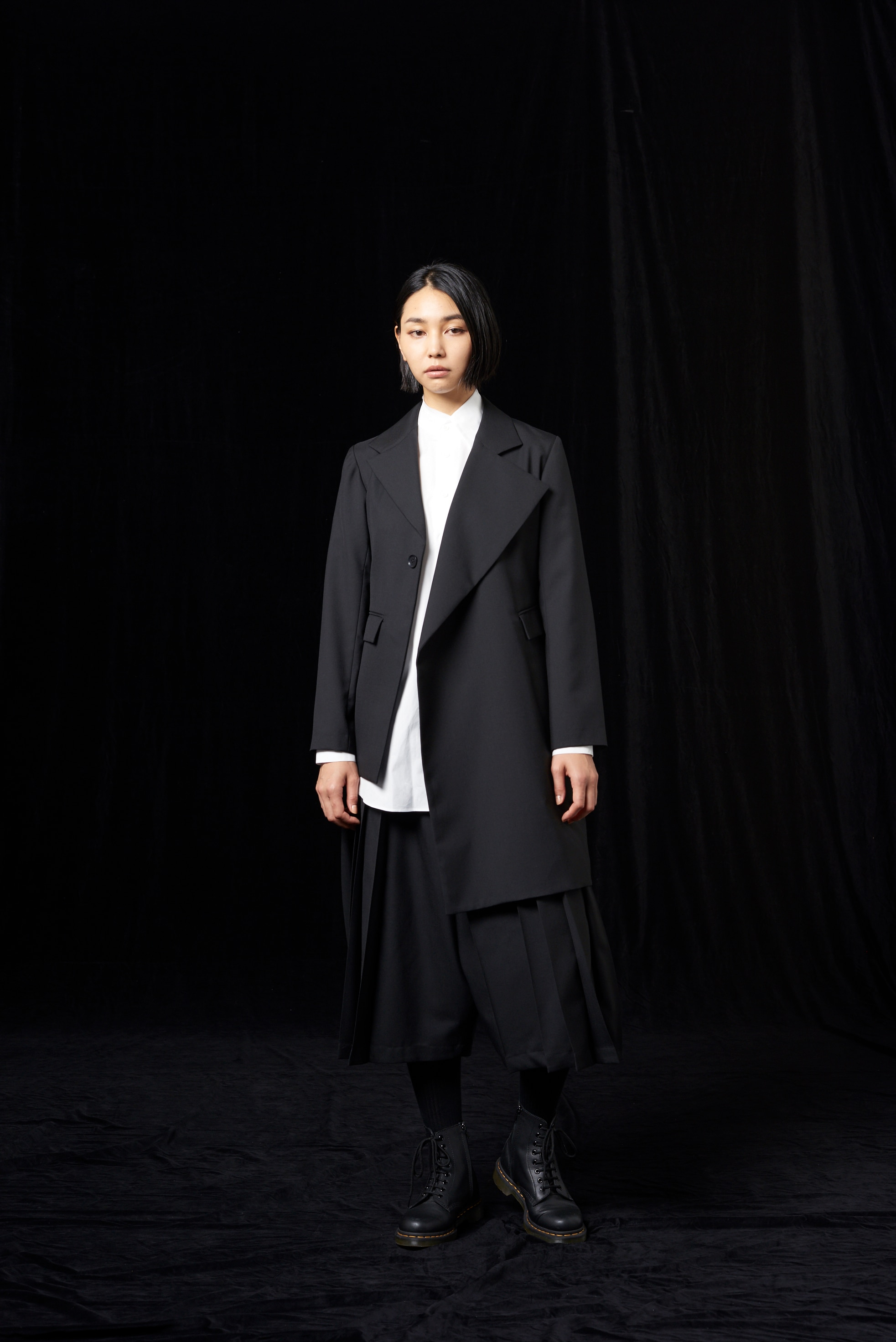 T/W_ gaberdine Asymmetry Jacket