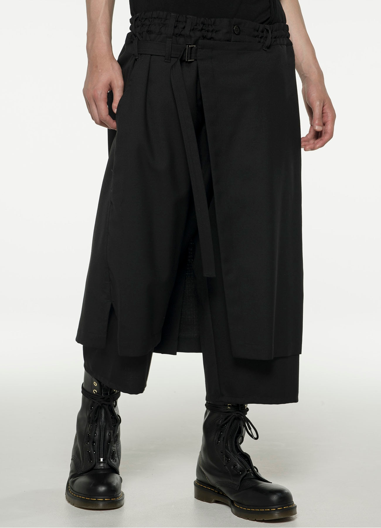 T/W_ gaberdine Wrap Pants type1