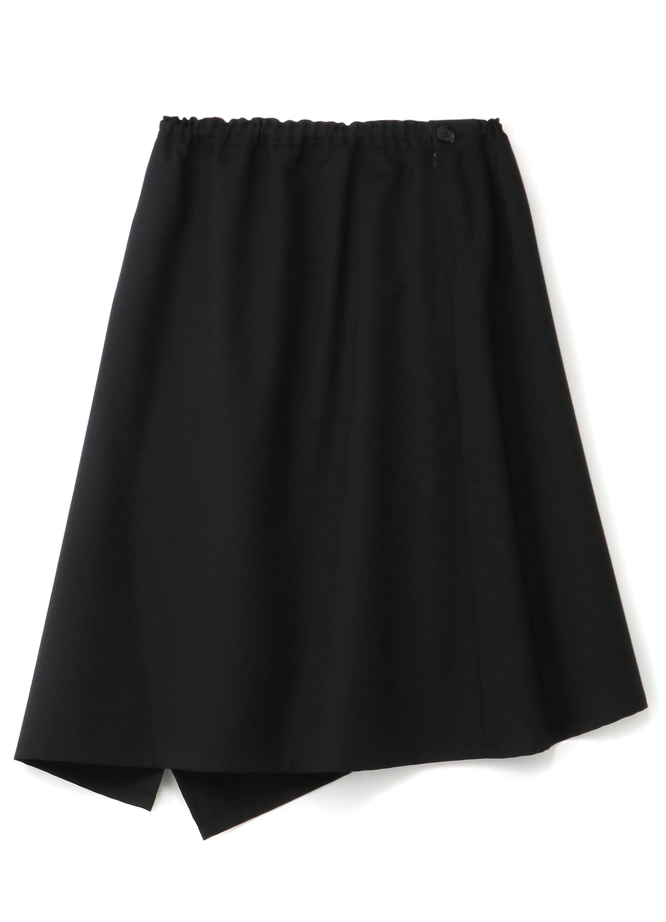 T/W_ gaberdine Left-Handed Gathered Skirt
