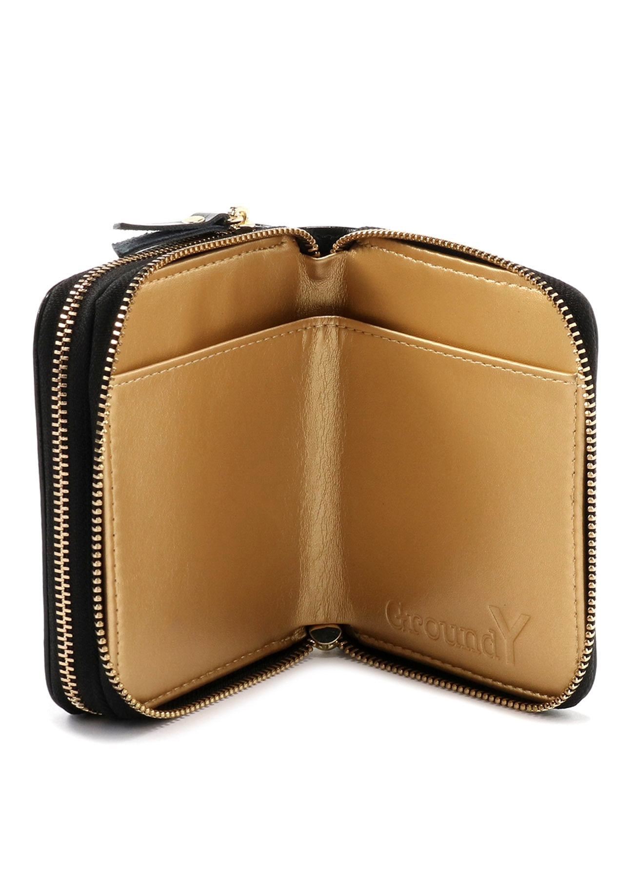 Cow Leather Double Zip Wallet