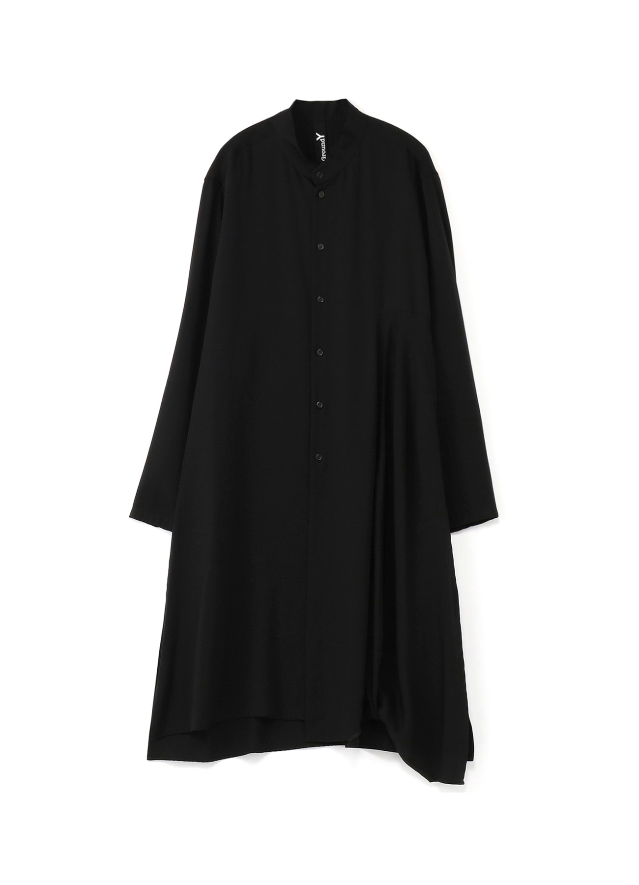 Tencel Burberry left twisted long shirt