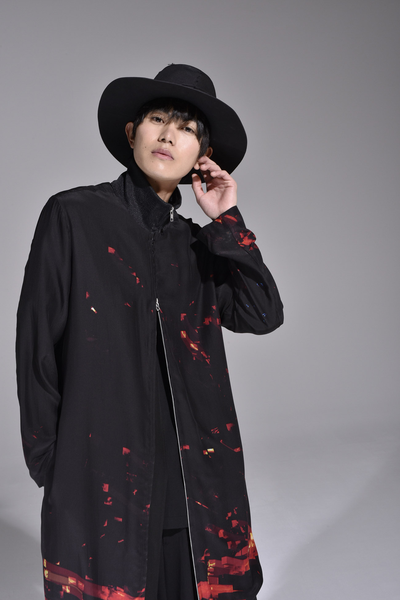 "Ground Y feat. BABYMETAL ""GALAXY"" Collection Collar Rib Long Shirt"