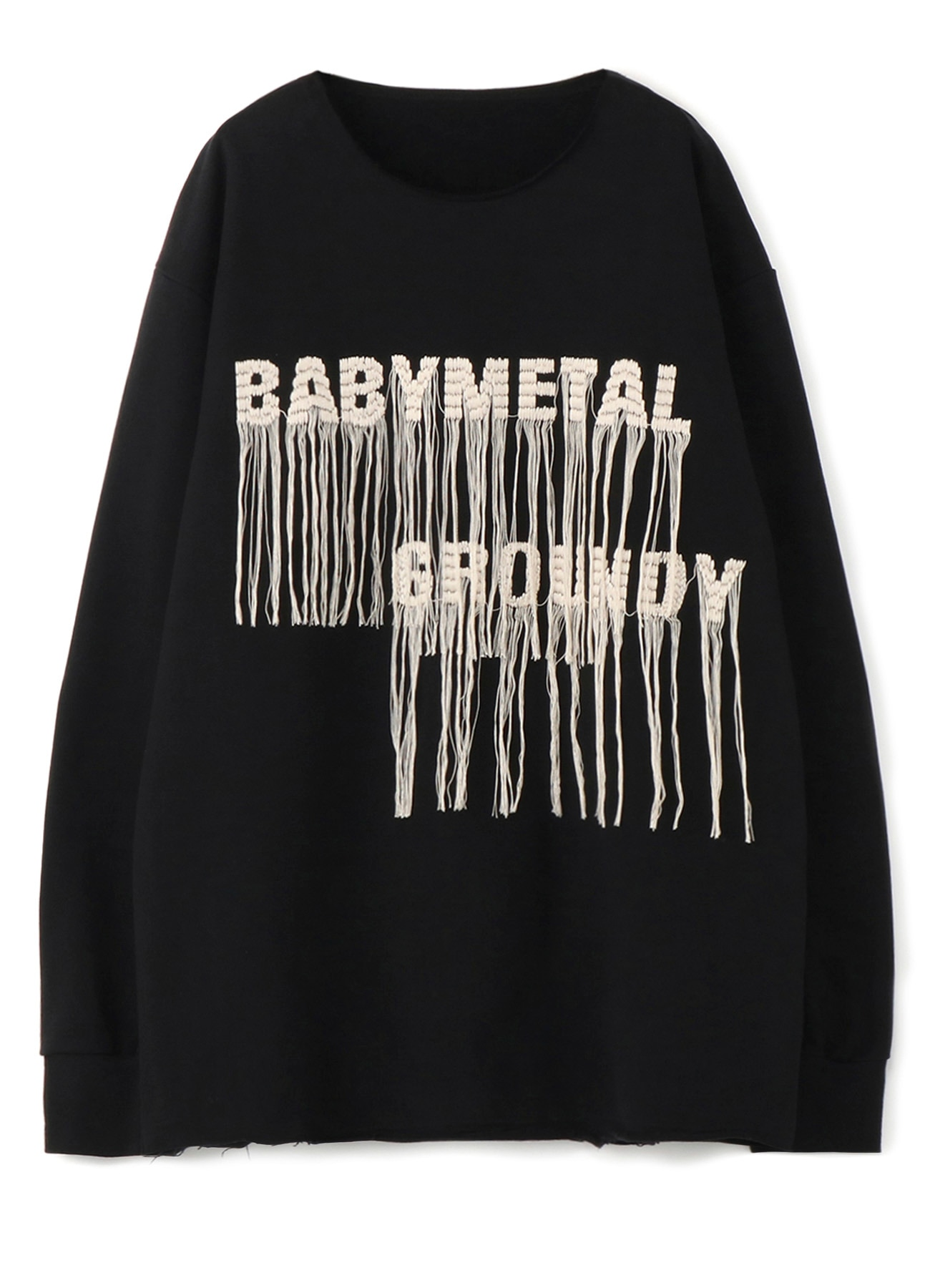 "Ground Y feat.BABYMETAL ""GALAXY"" Collection Embroidery Pullover Sweat"