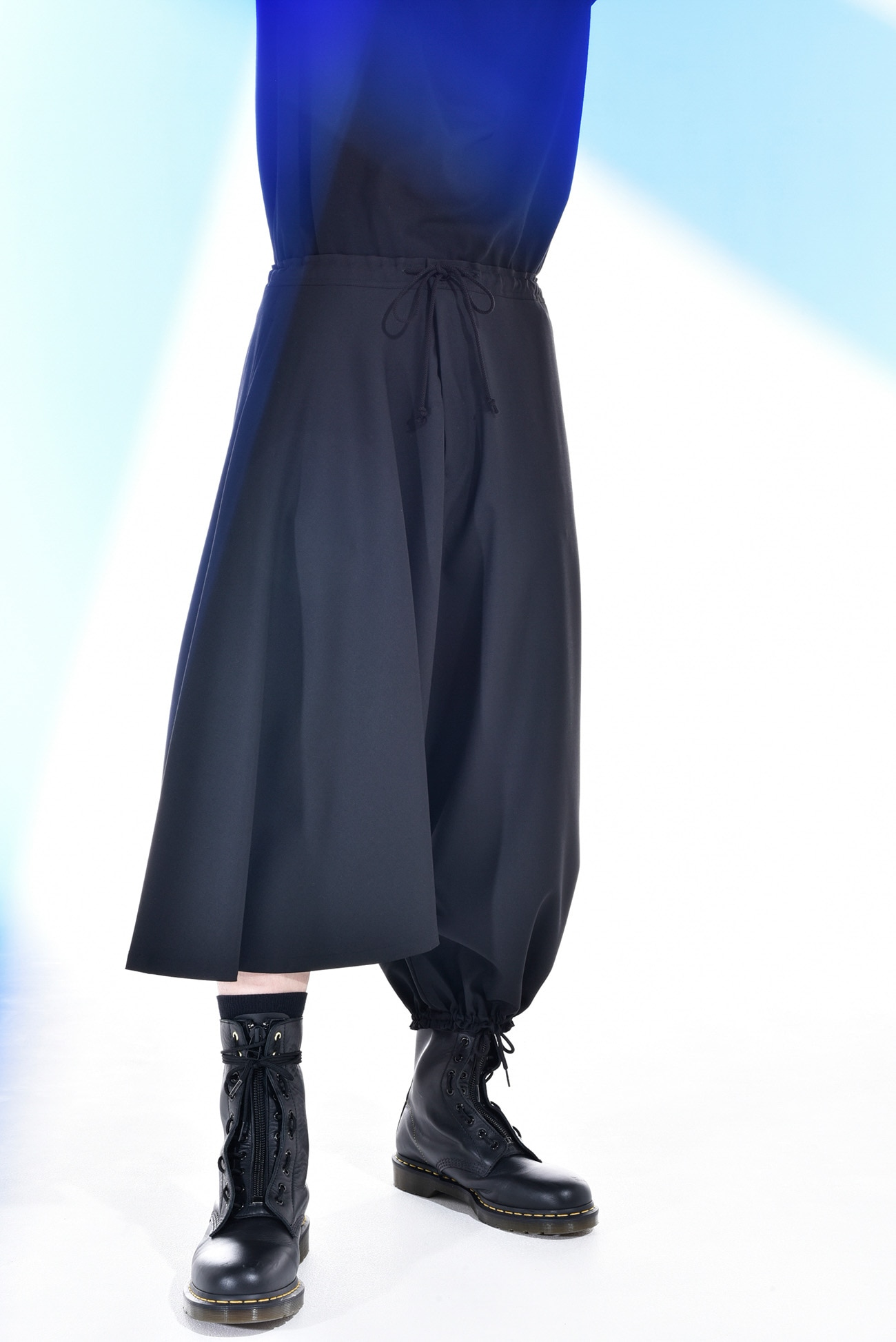 T/W gaberdine Asymmetry Balloon Pants