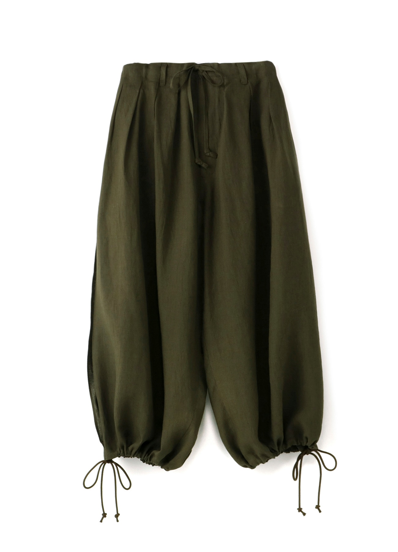 Linen Cross Slit Balloon Pants