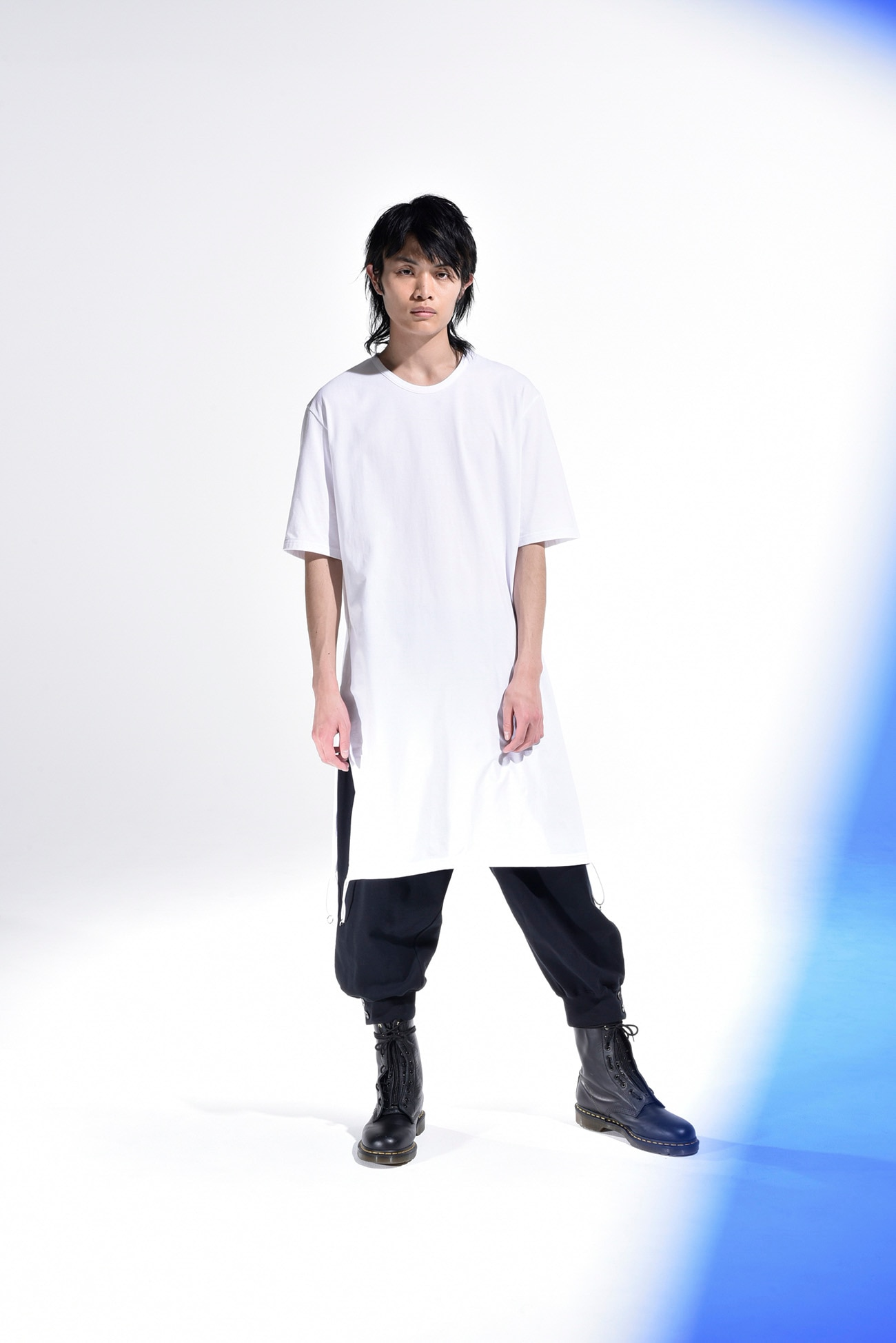 30/cotton Jersey A Tied Short Sleeves Long Cut Sew