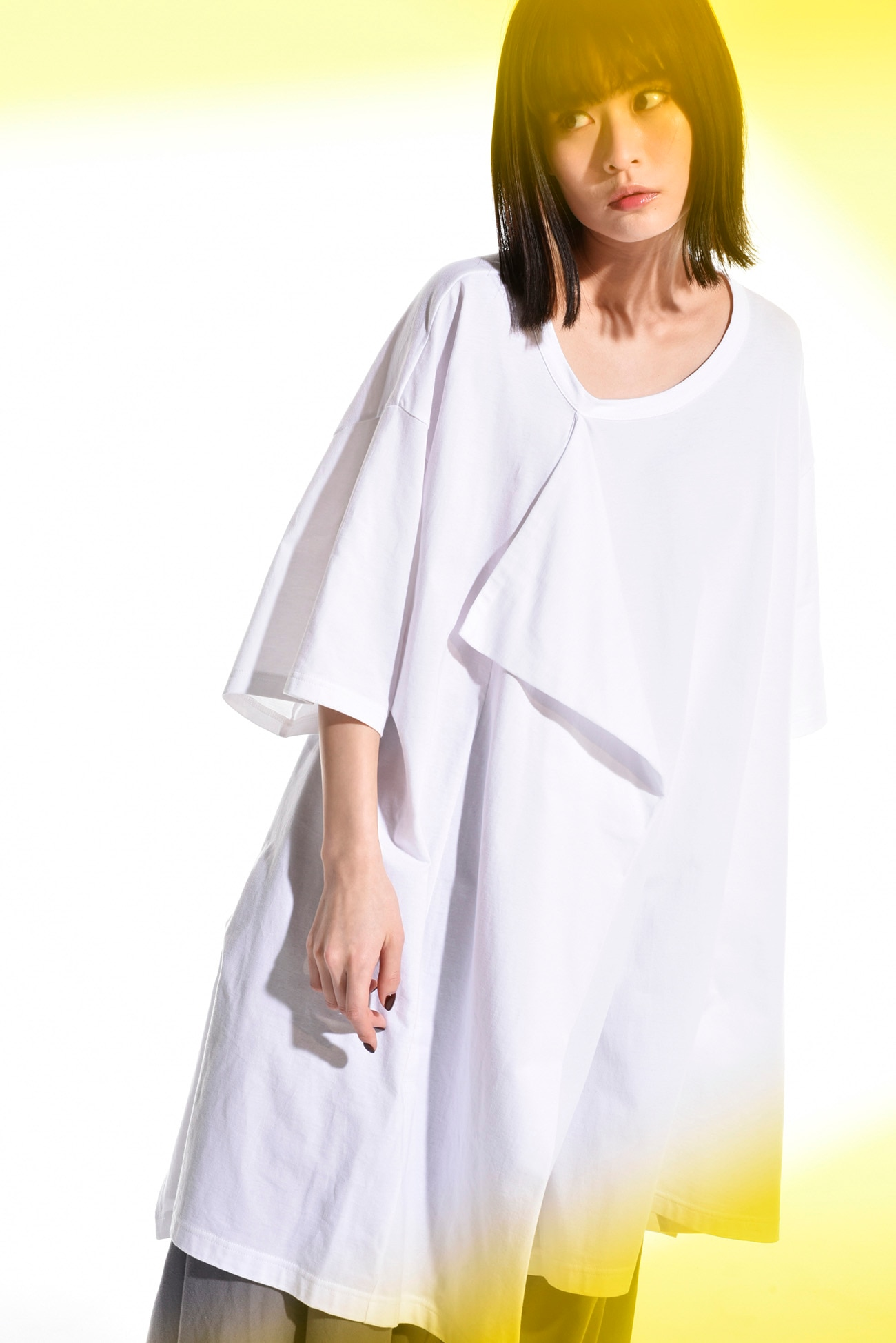 30 / cotton Jersey Front Drape Big Cut Sew