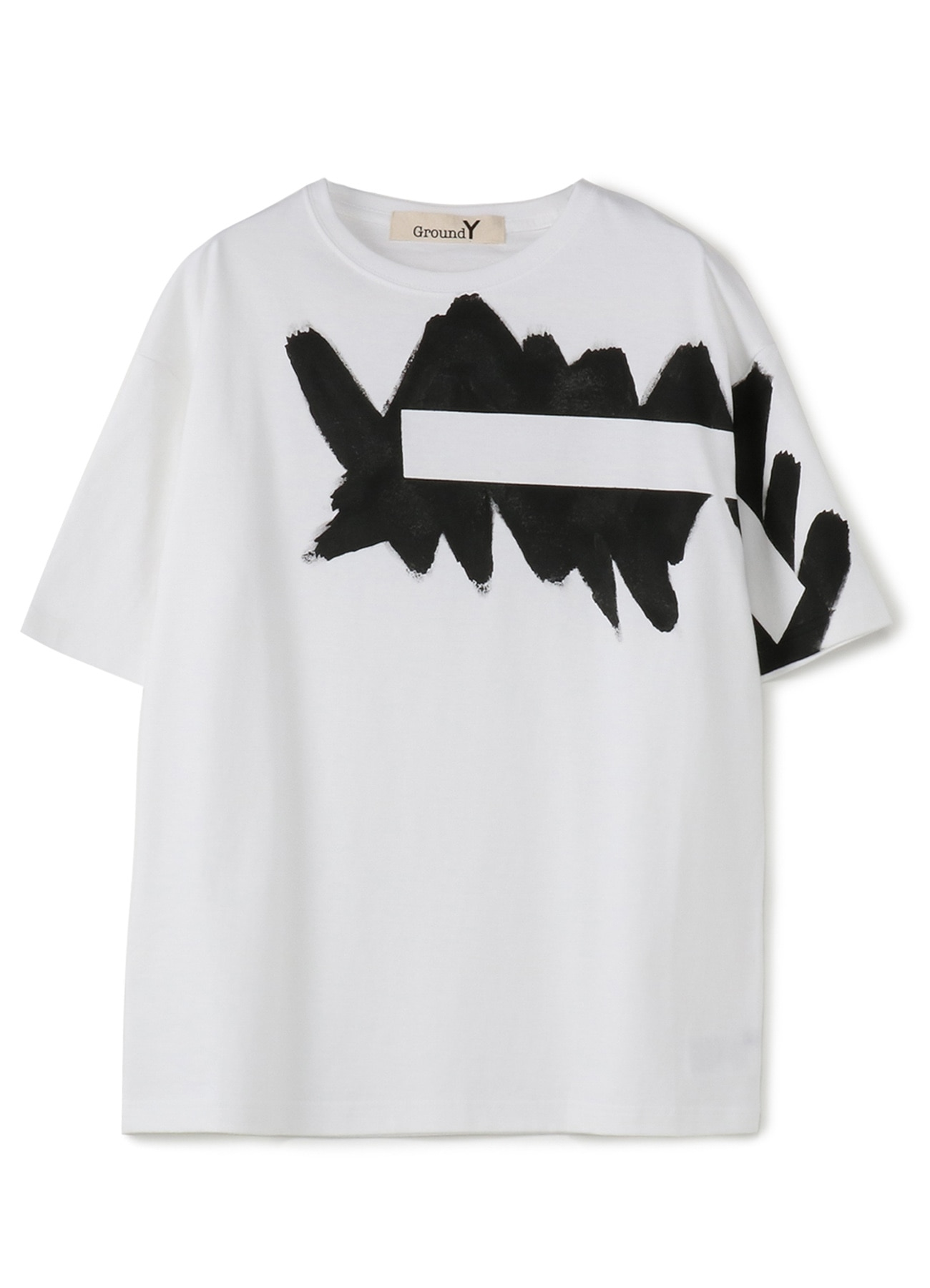Painted 5.6oz cotton Jersey Oversized T-Shirt C