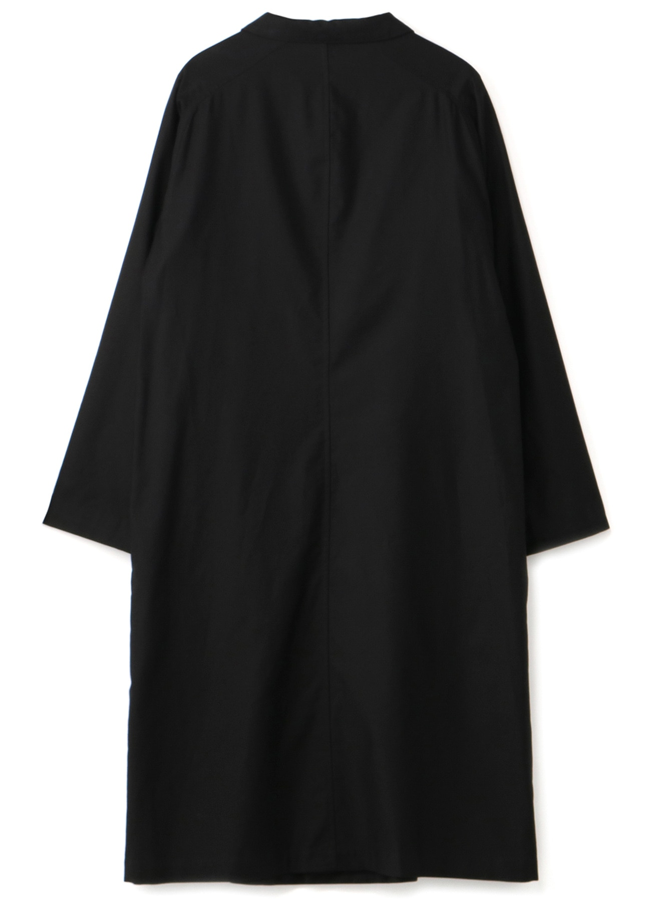 BLACK C/TWILL PARTS BUTTON RAGLAN DRESS