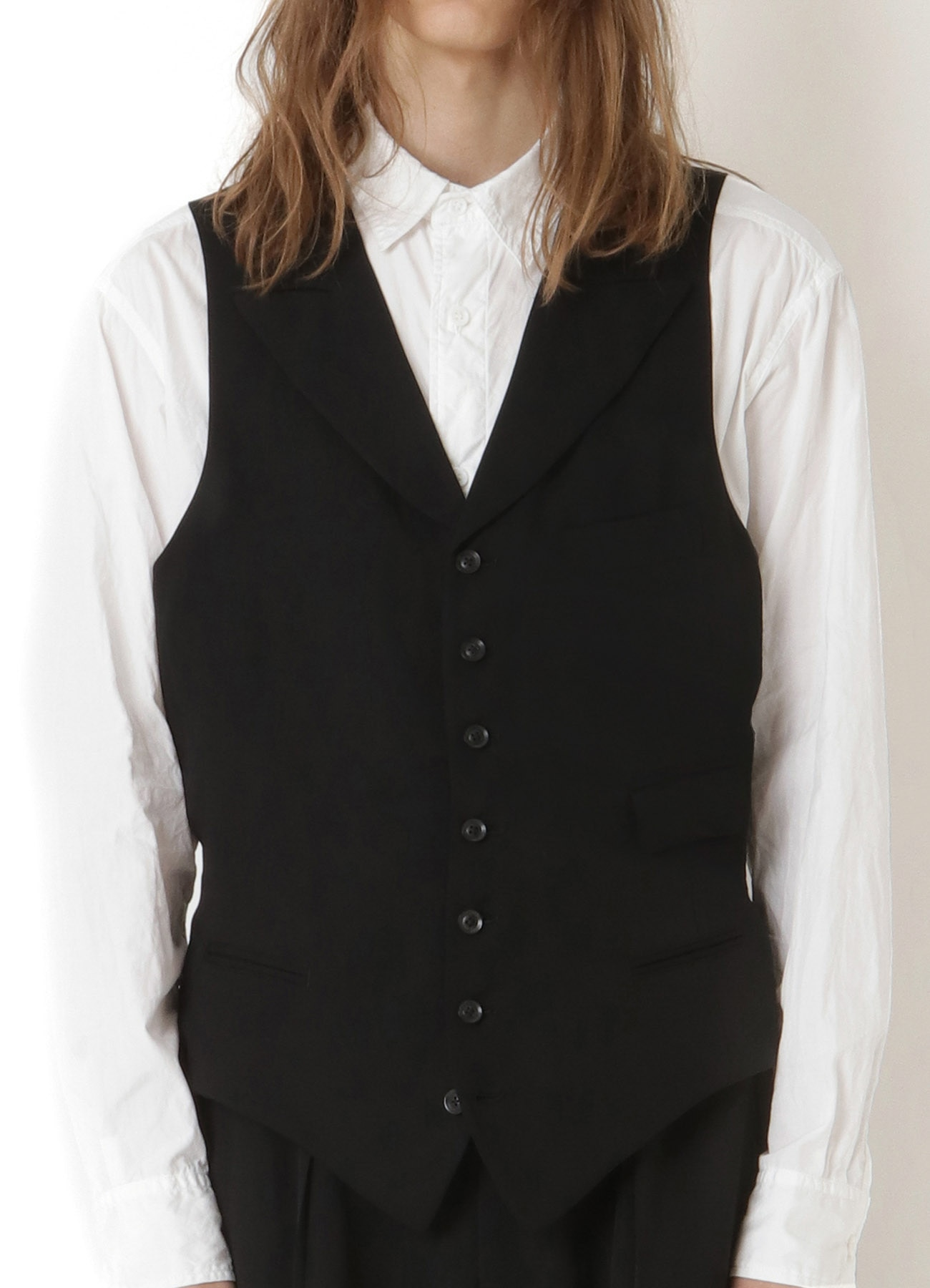 REGULATION TENCEL BURBERRY 7BUTTON SINGLE PEAKED LAPEL VEST