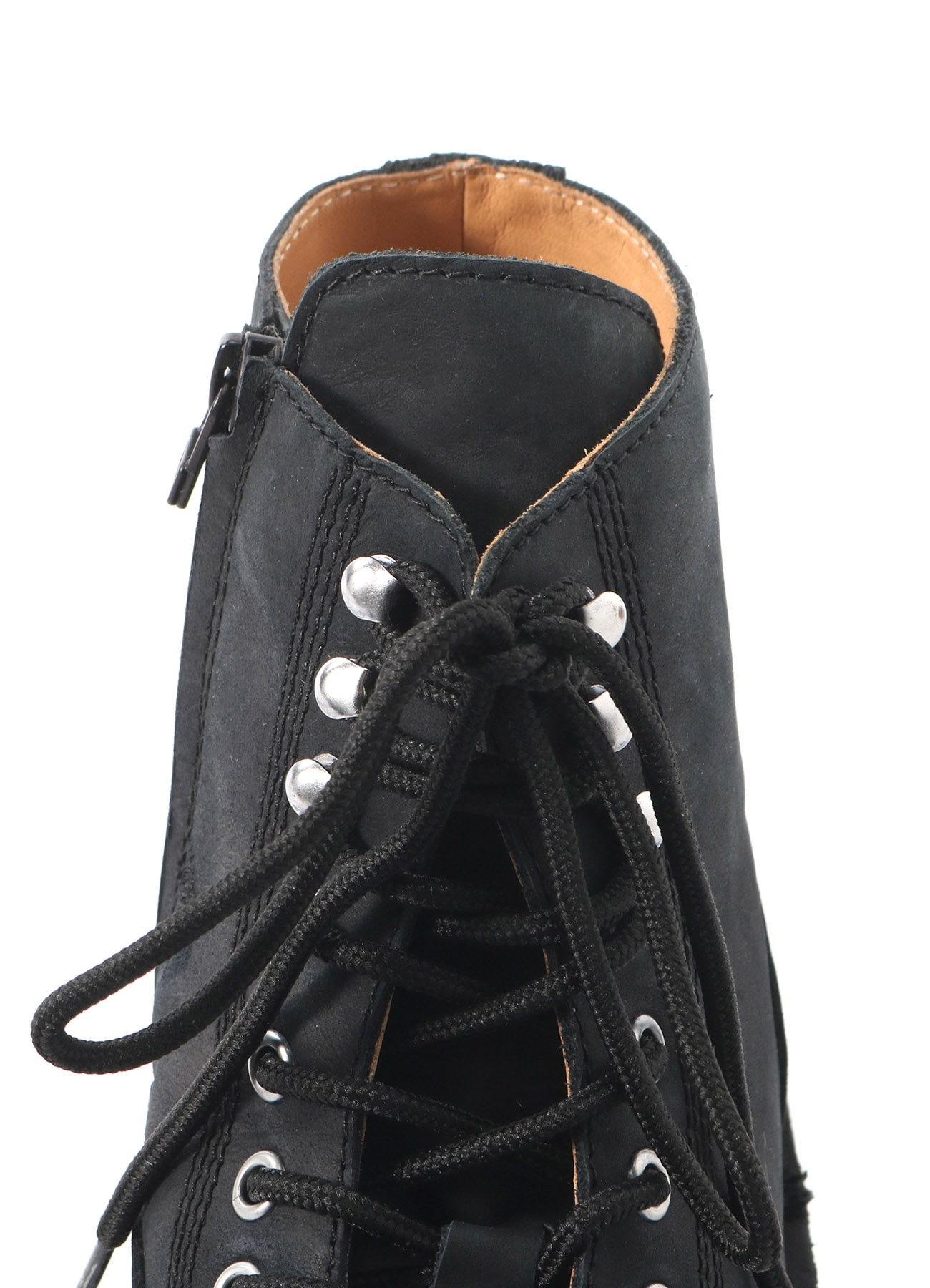 MAT SMOOTH LEATHER FASTENER BIKER'S BOOTS