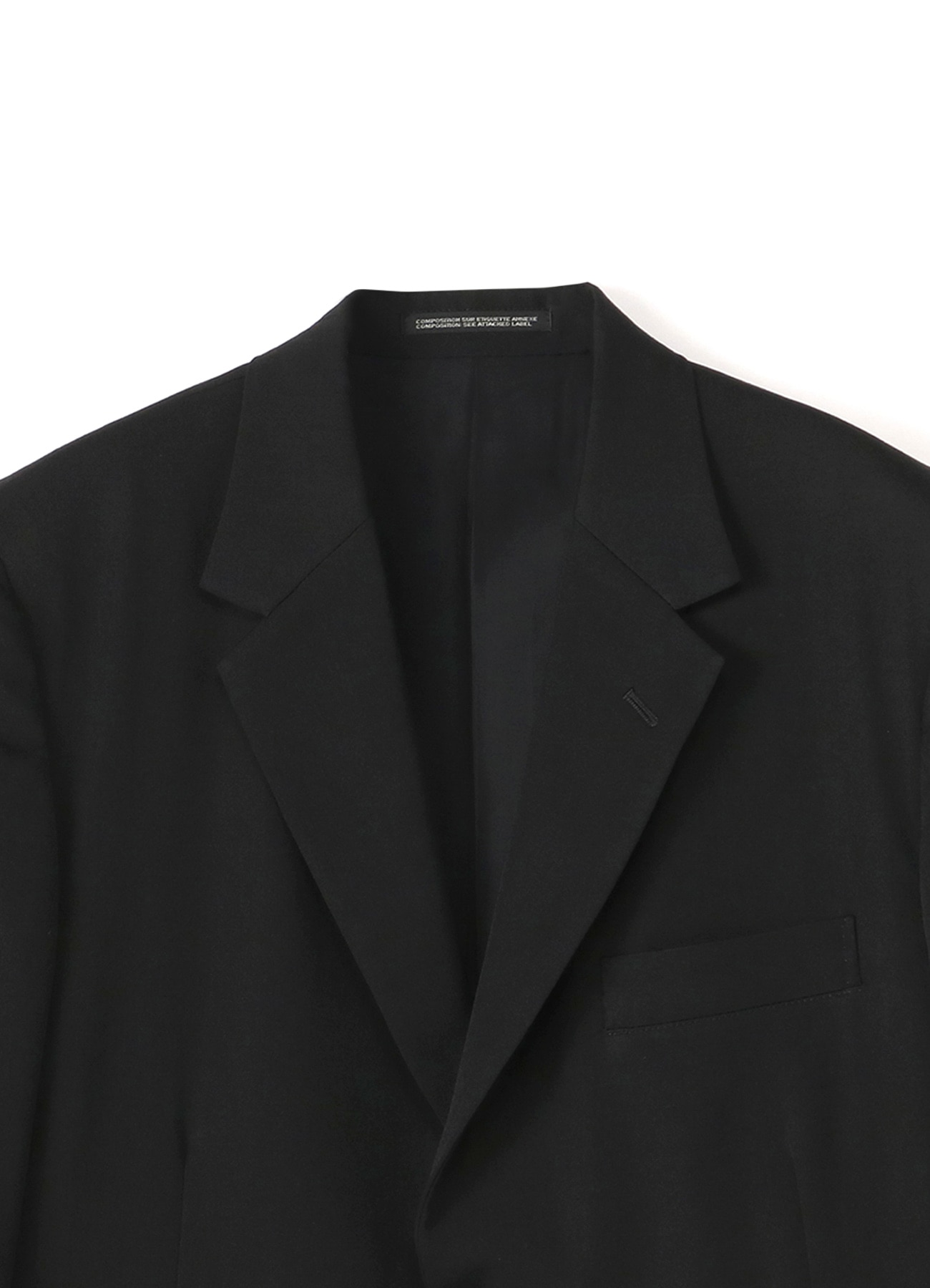 COSTUME D'HOMME Wool Gabardine Two Button Single Jacket