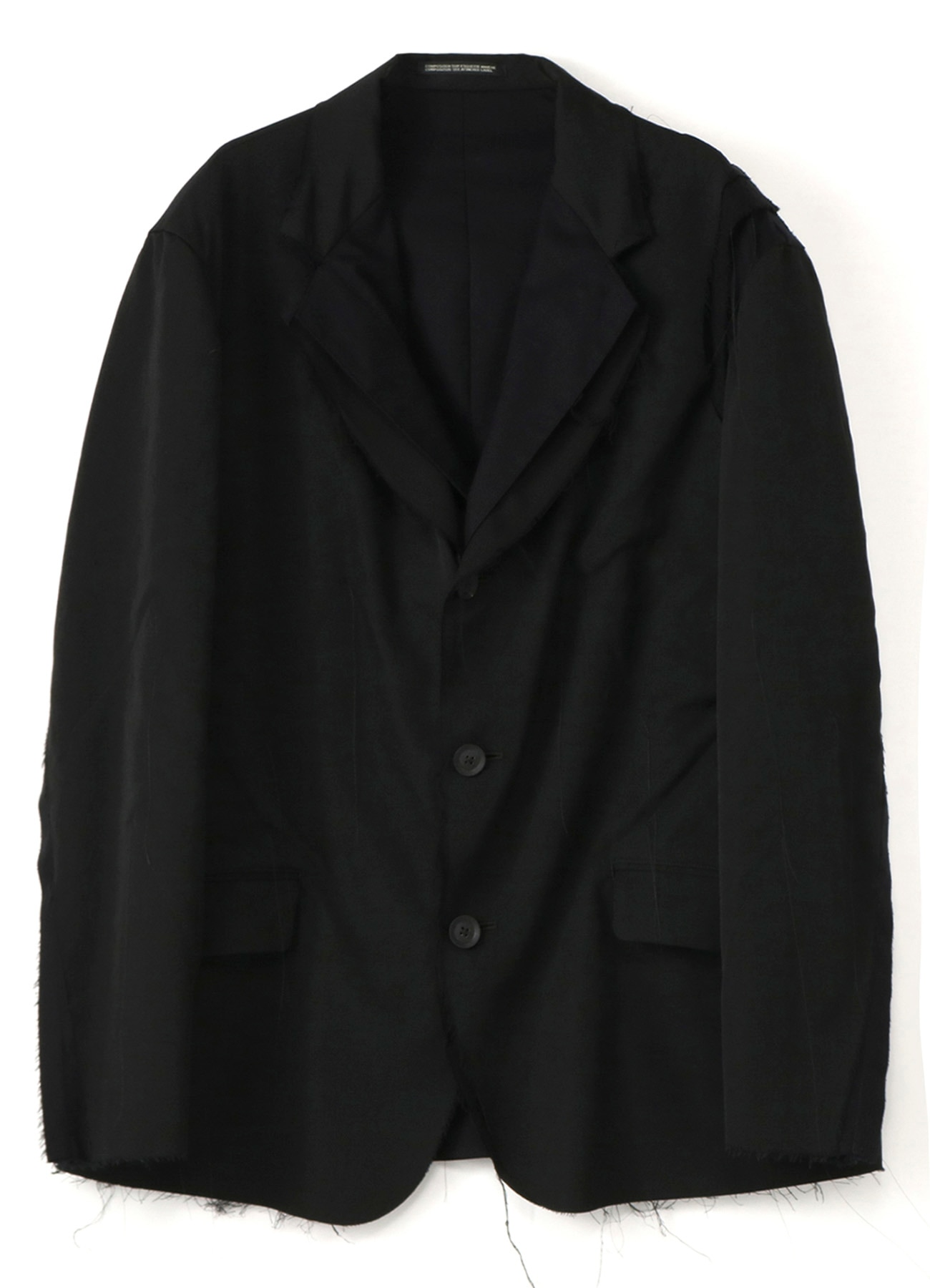 WOOL GABARDINE+COTTON CLOTH+VISCOSE 3BUTTON LAYER JACKET