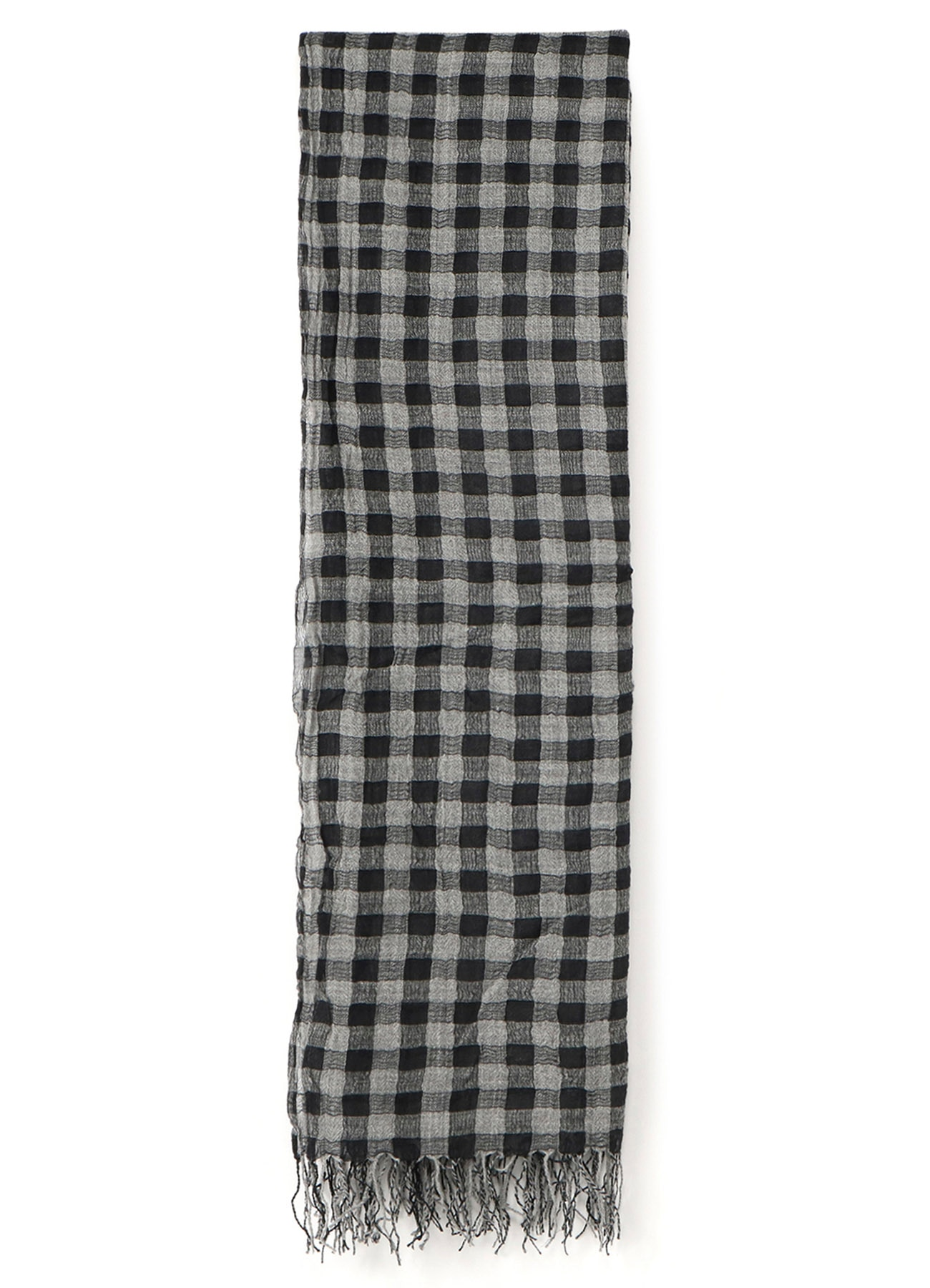 GINGHAM PLAID MUFFLER