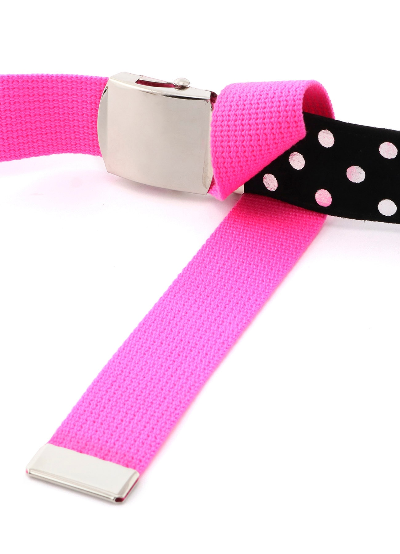 Leather Cover Tape Polka Dot Gacha Belt