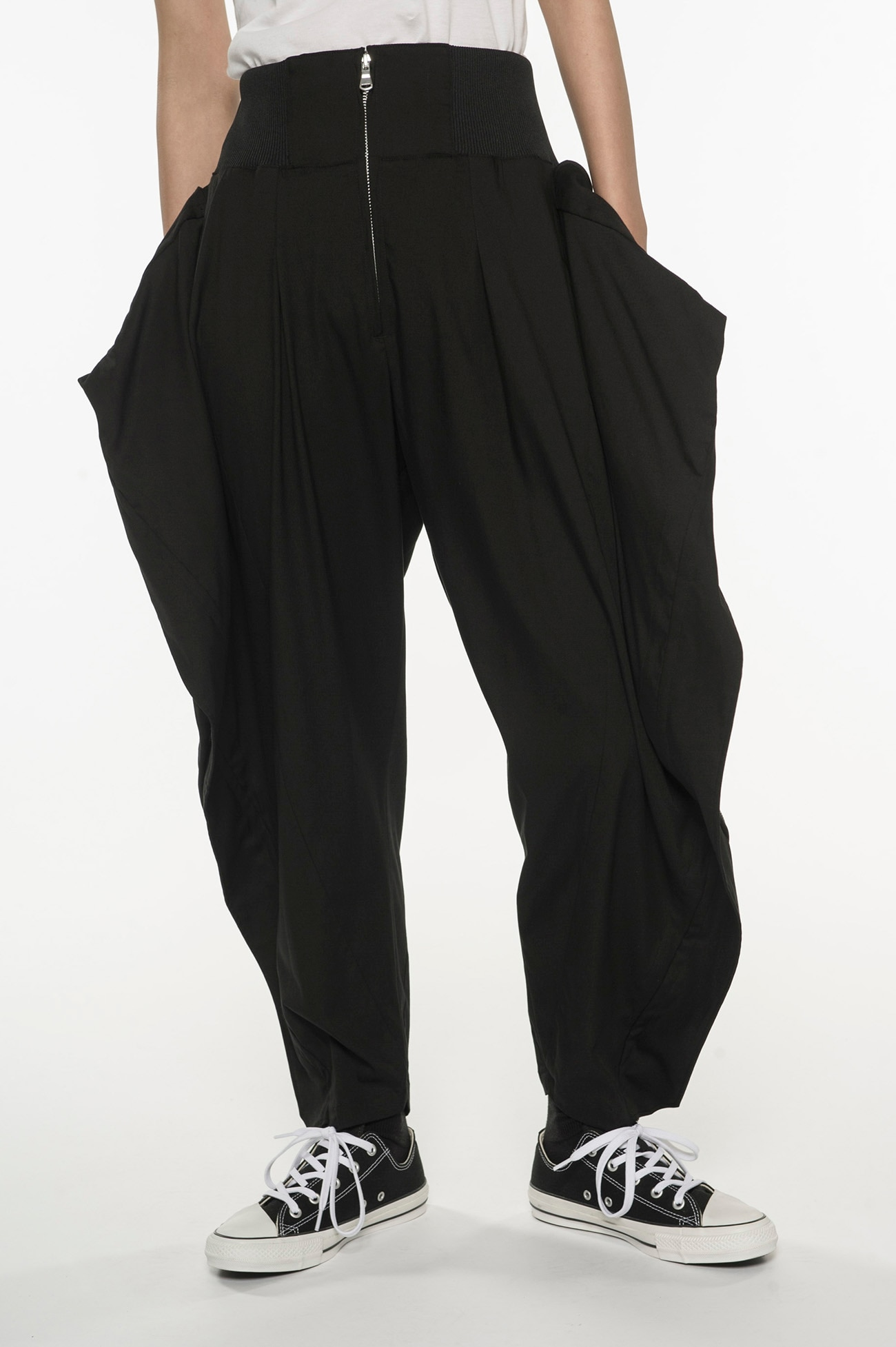 stretch Twill Square ZIP pants