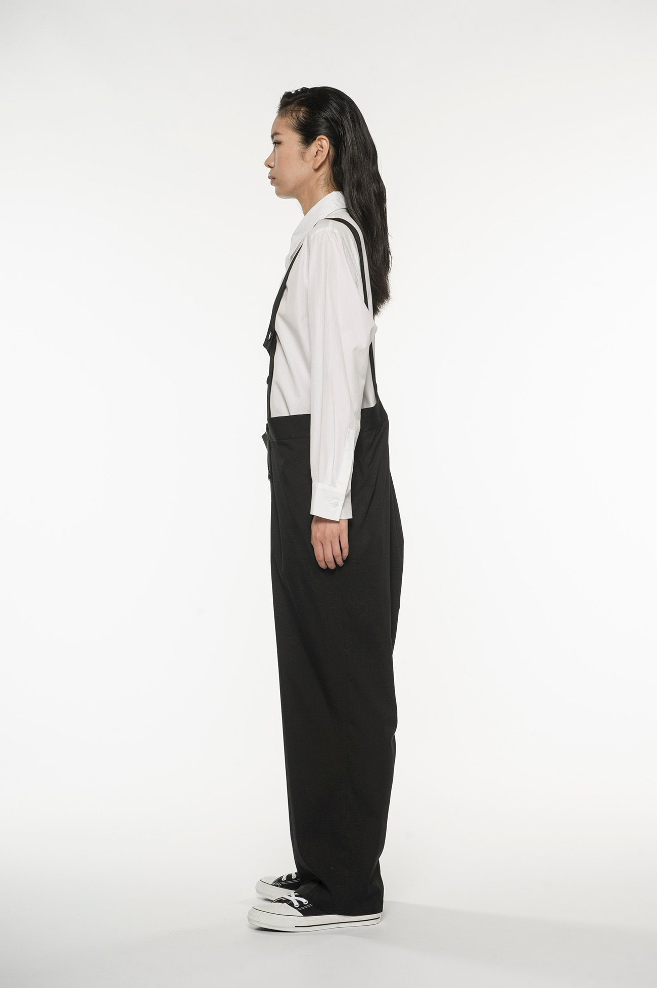 stretch Twill Front ate hanging pants