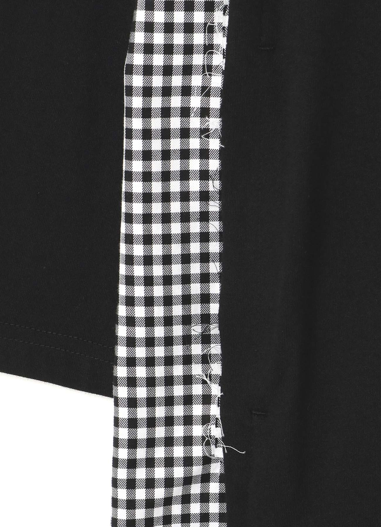 Gingham check combination dress