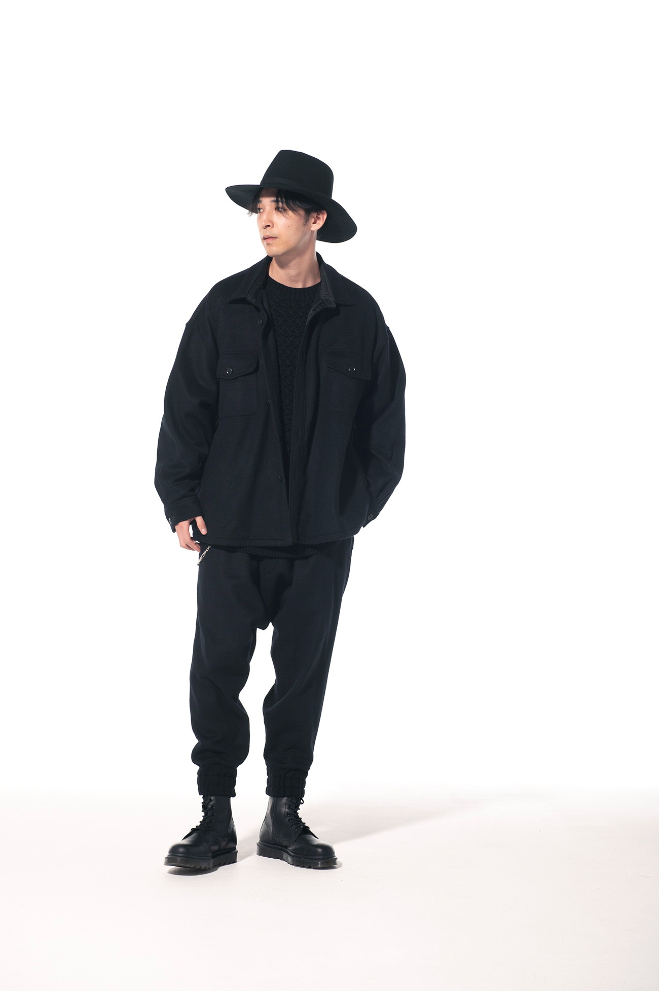 Wool Nylon Beaver CPO Big Shirt Jacket