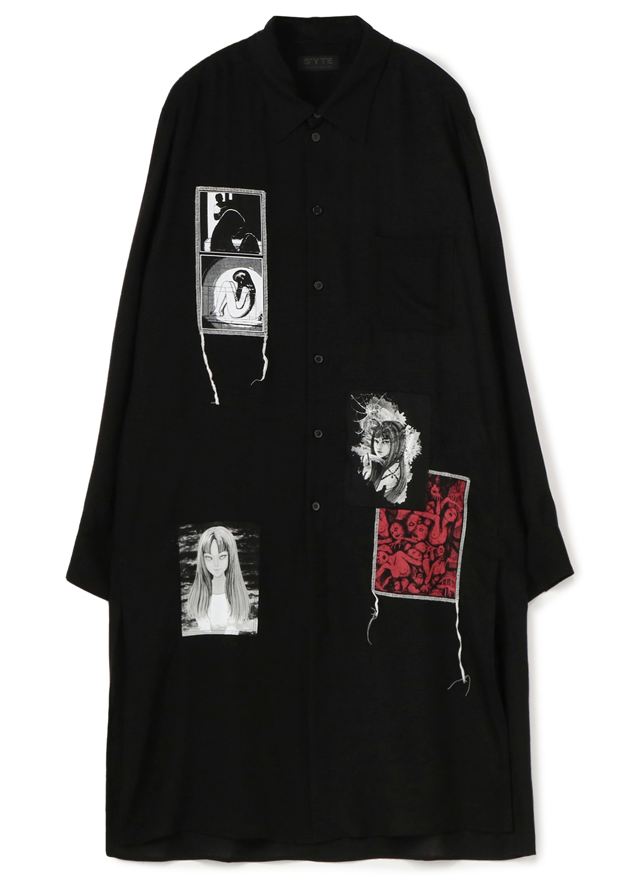 Tencel Viera JunjiIto 「Tomie」Omnibus Regular Printed Patch Long Shirt