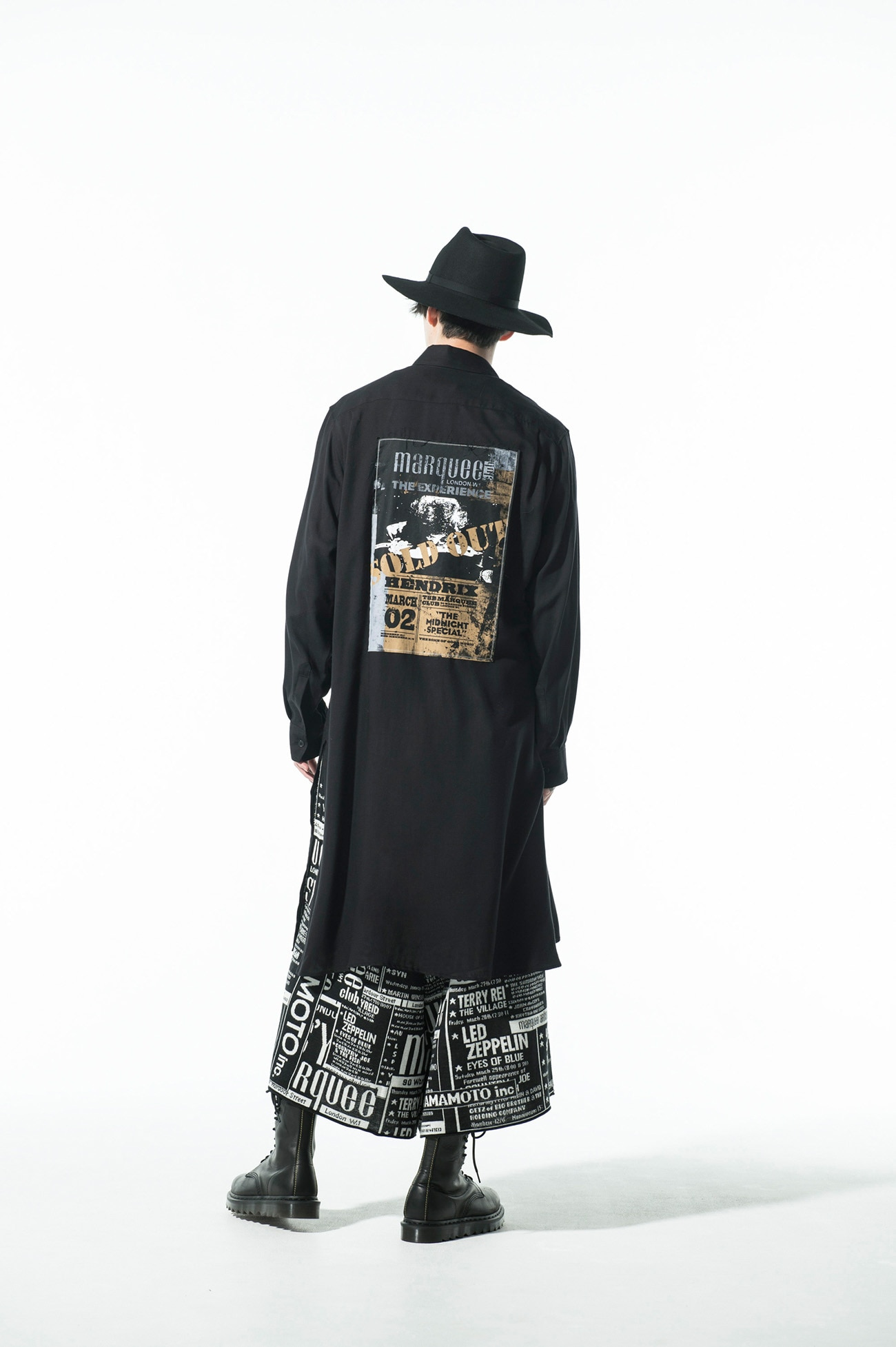 S'YTE × marquee club(TM) 1967 Tencel Viera Omnibus Printed Patch Long Shirt