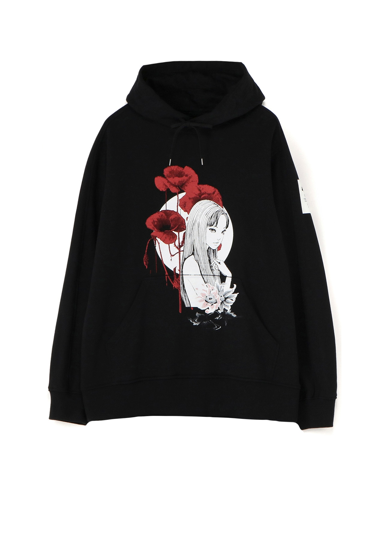 French Terry Stitch Work Tomie、 Blood and Poppy Flowers Hoodie