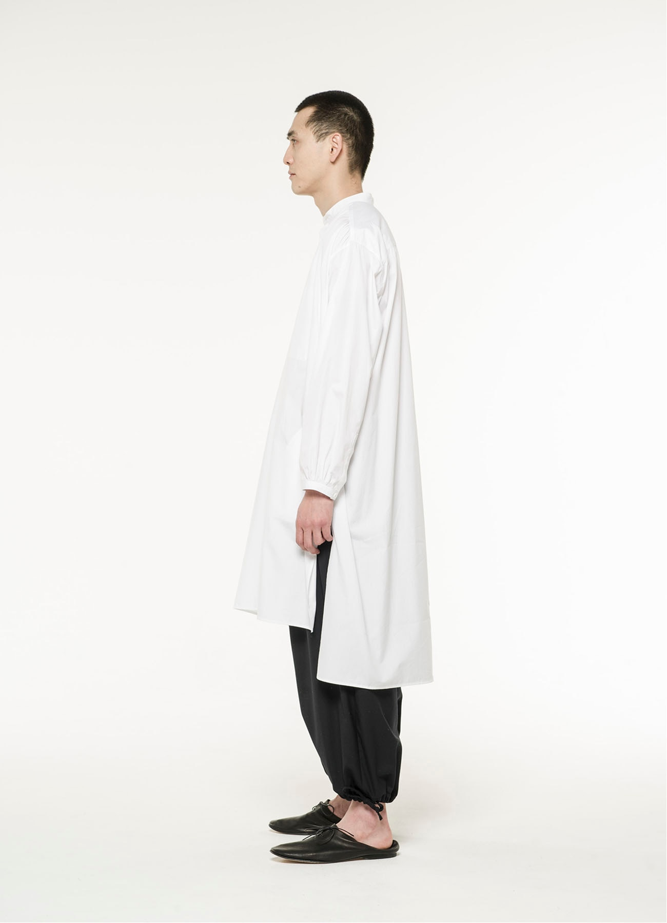 100/2 Broad Gather Pullover Big Long Shirt