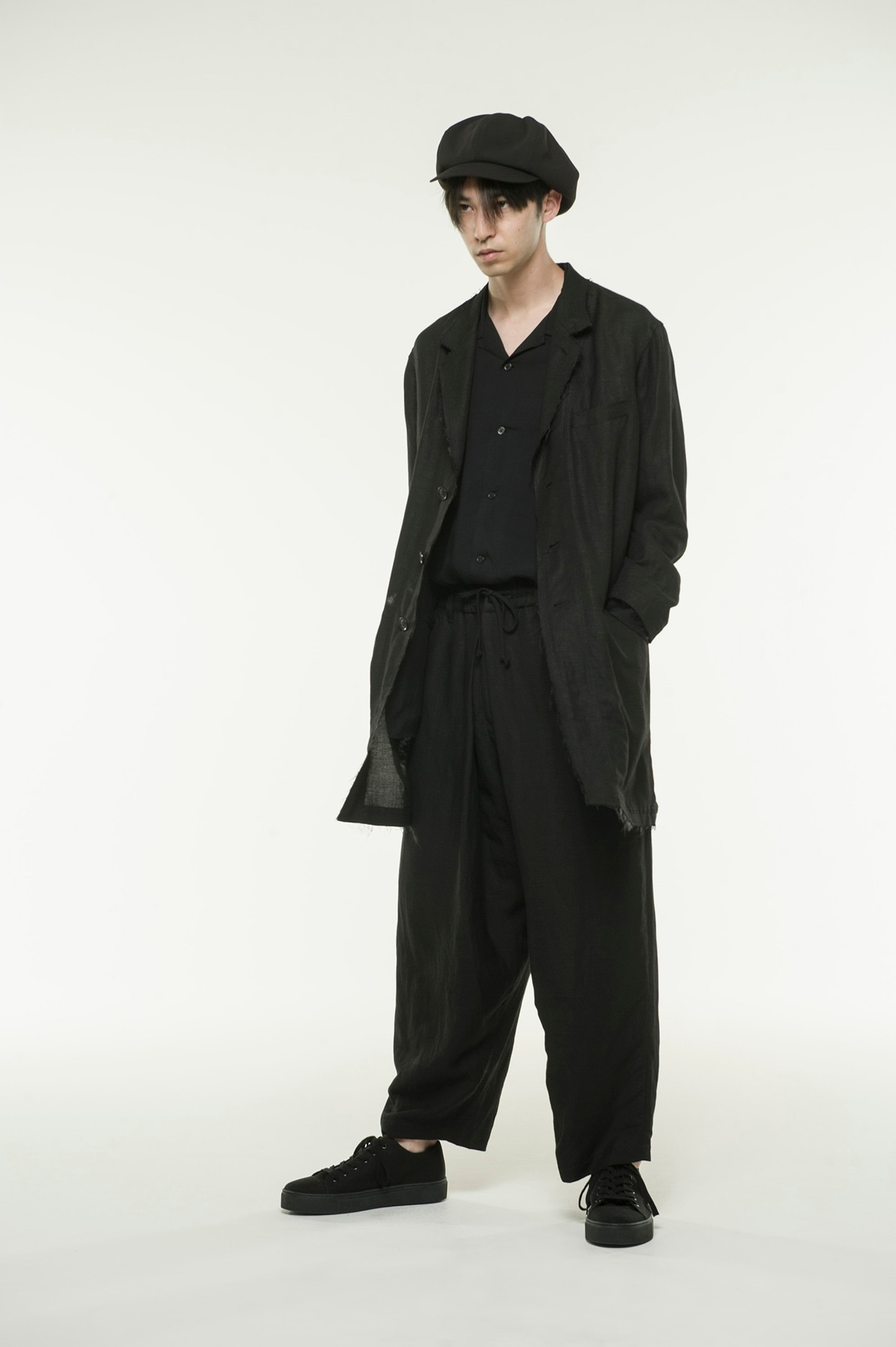 Rayon Linen Easy Cross • B 3 BS Tailored Long Shirt Jacket