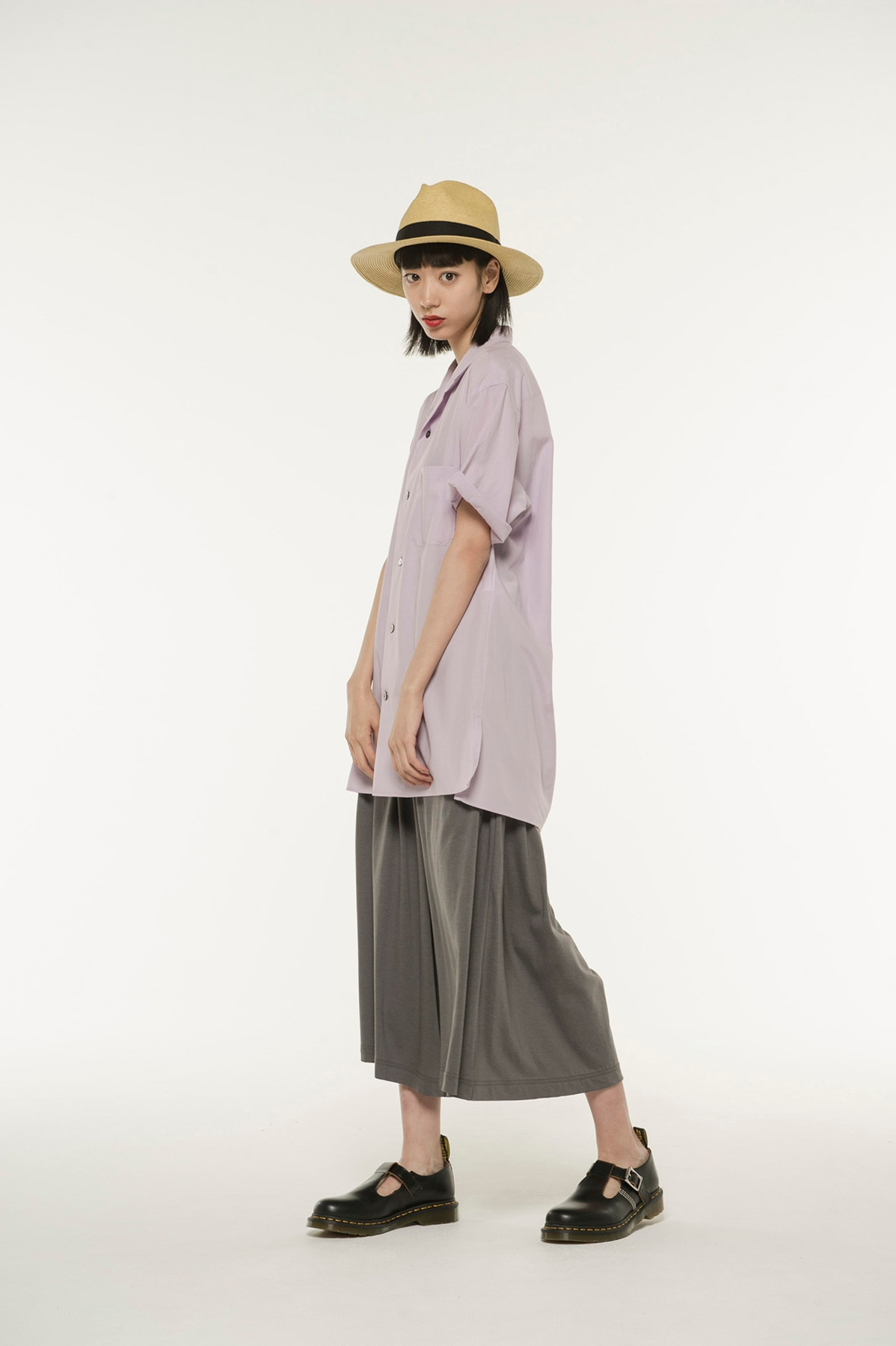Cotton Lyocell Jersey Culotte Pants