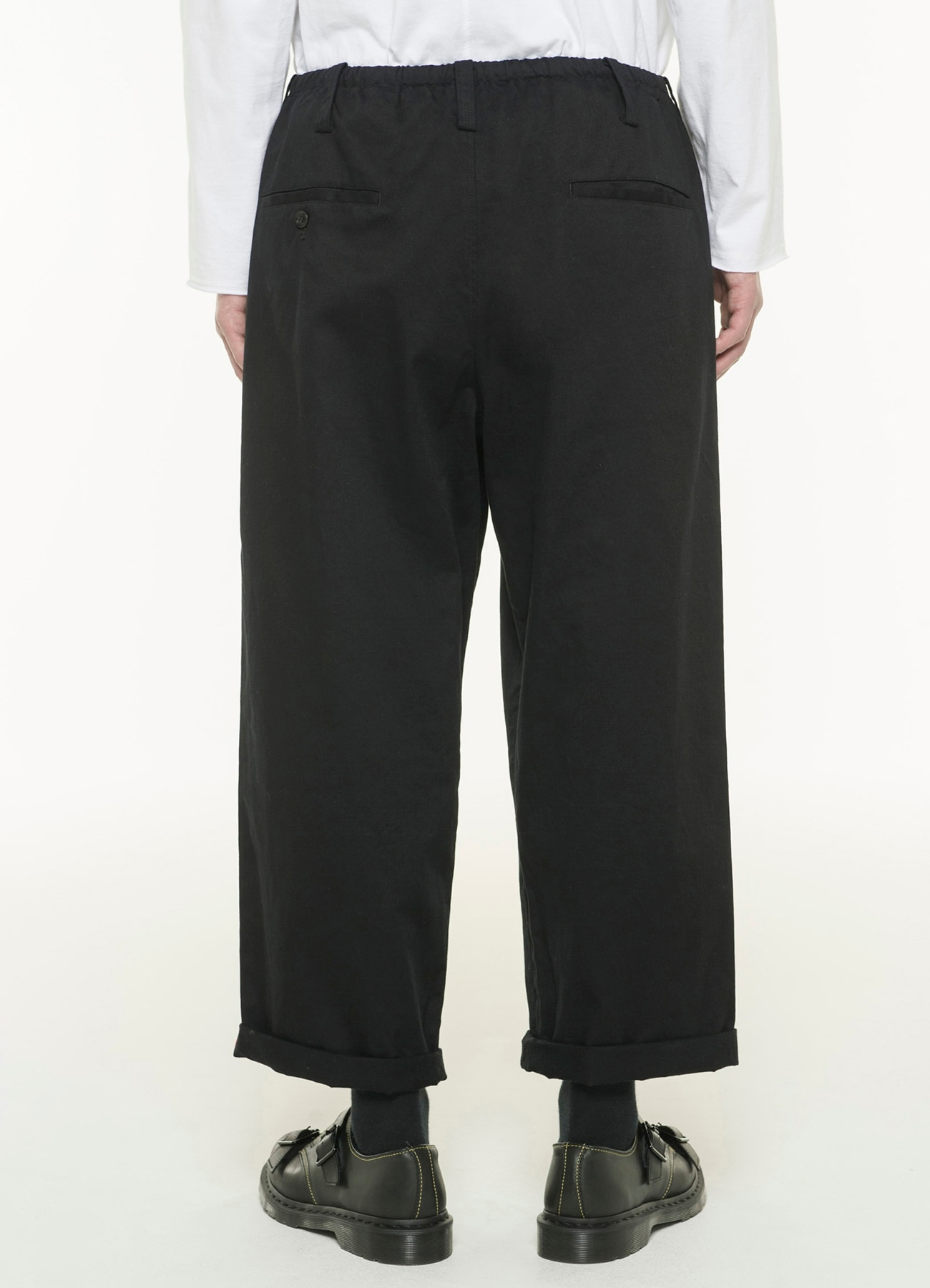 20/Cotton Twill Back Side Tape Waist String Pants