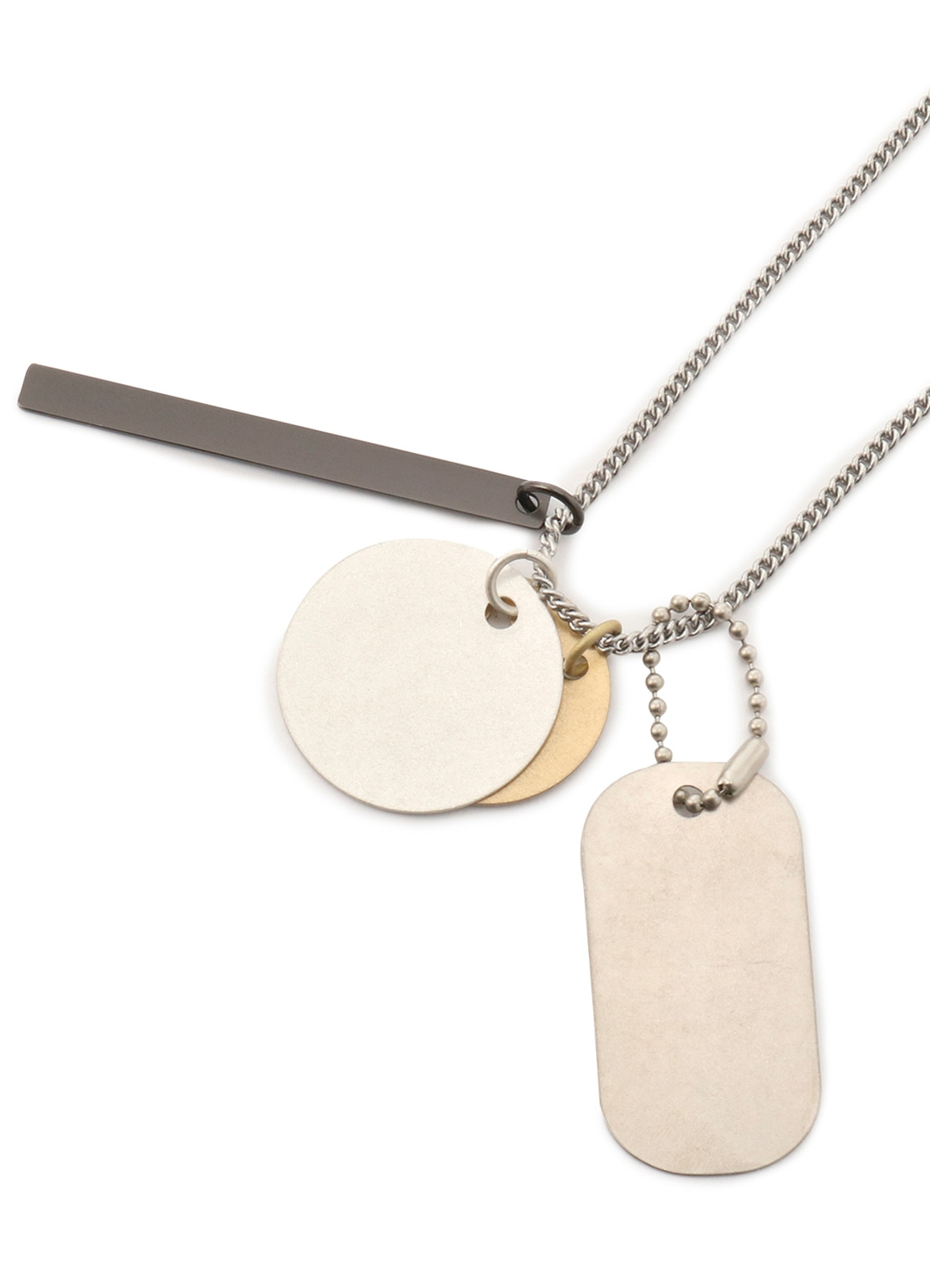 Brass Dog Tag Necklace