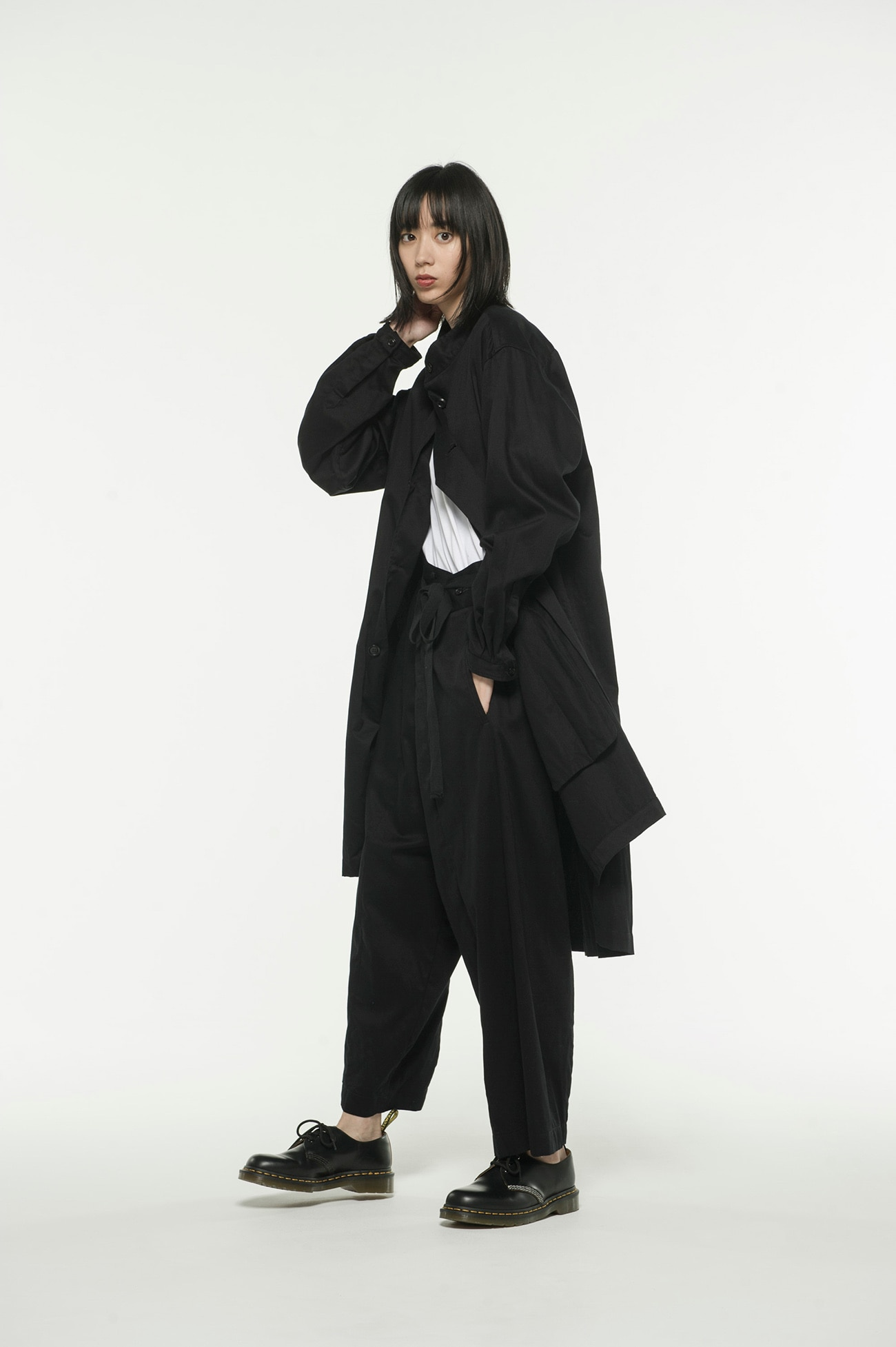 20 / Cotton Twill Stand Collar Coat