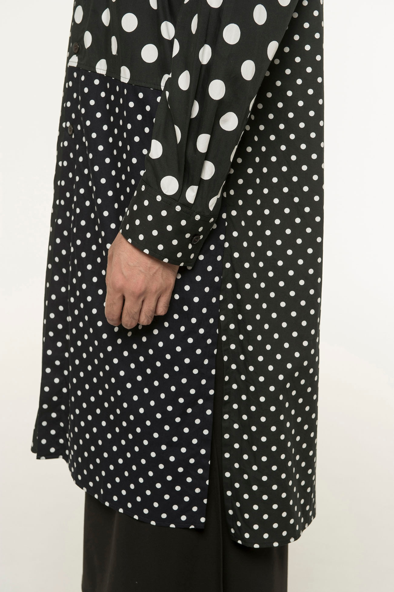 Dot Crazy Panel Long Shirt