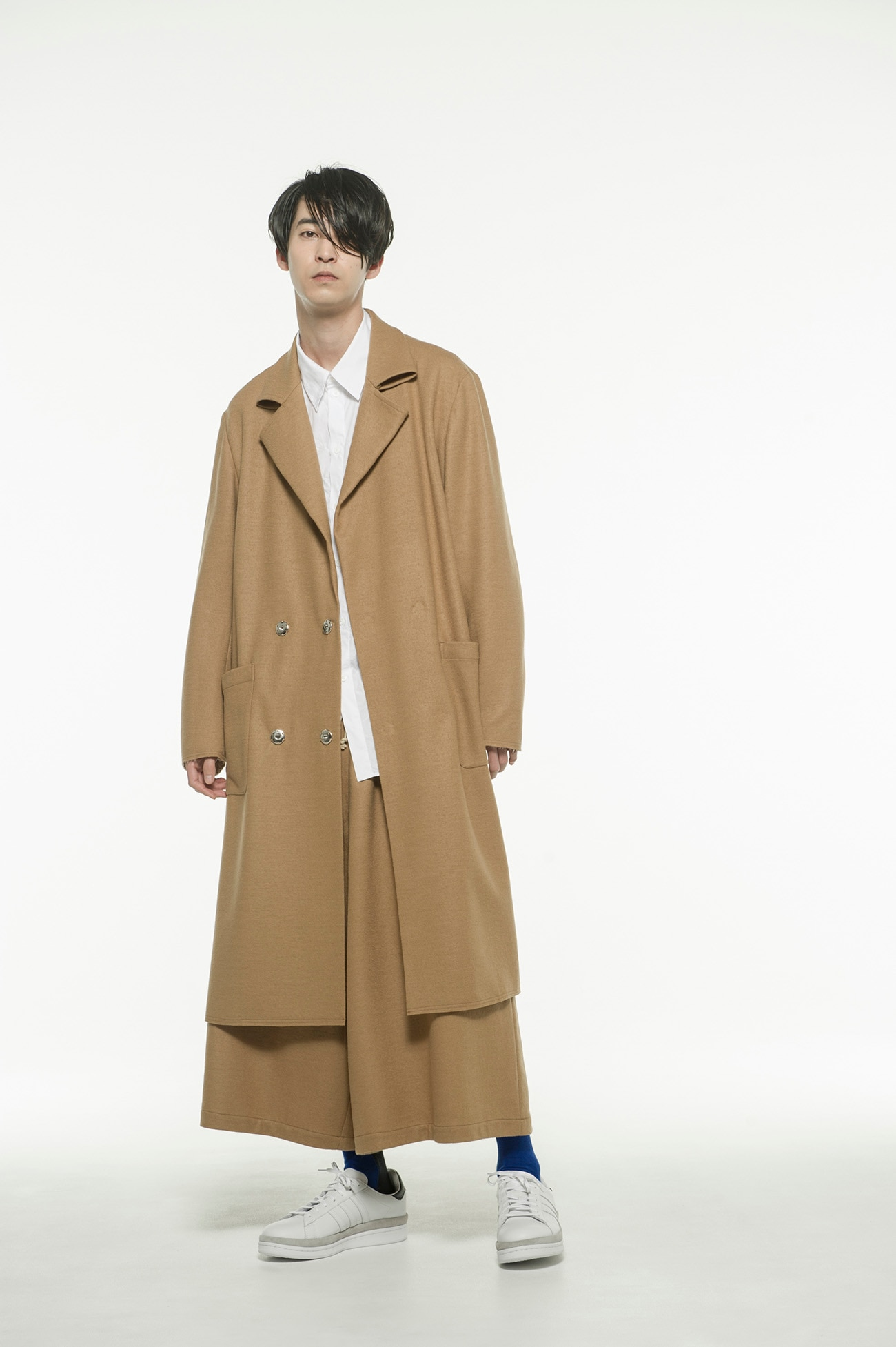 Compression Wool Semi Double Cuts Collar Tailored Coat
