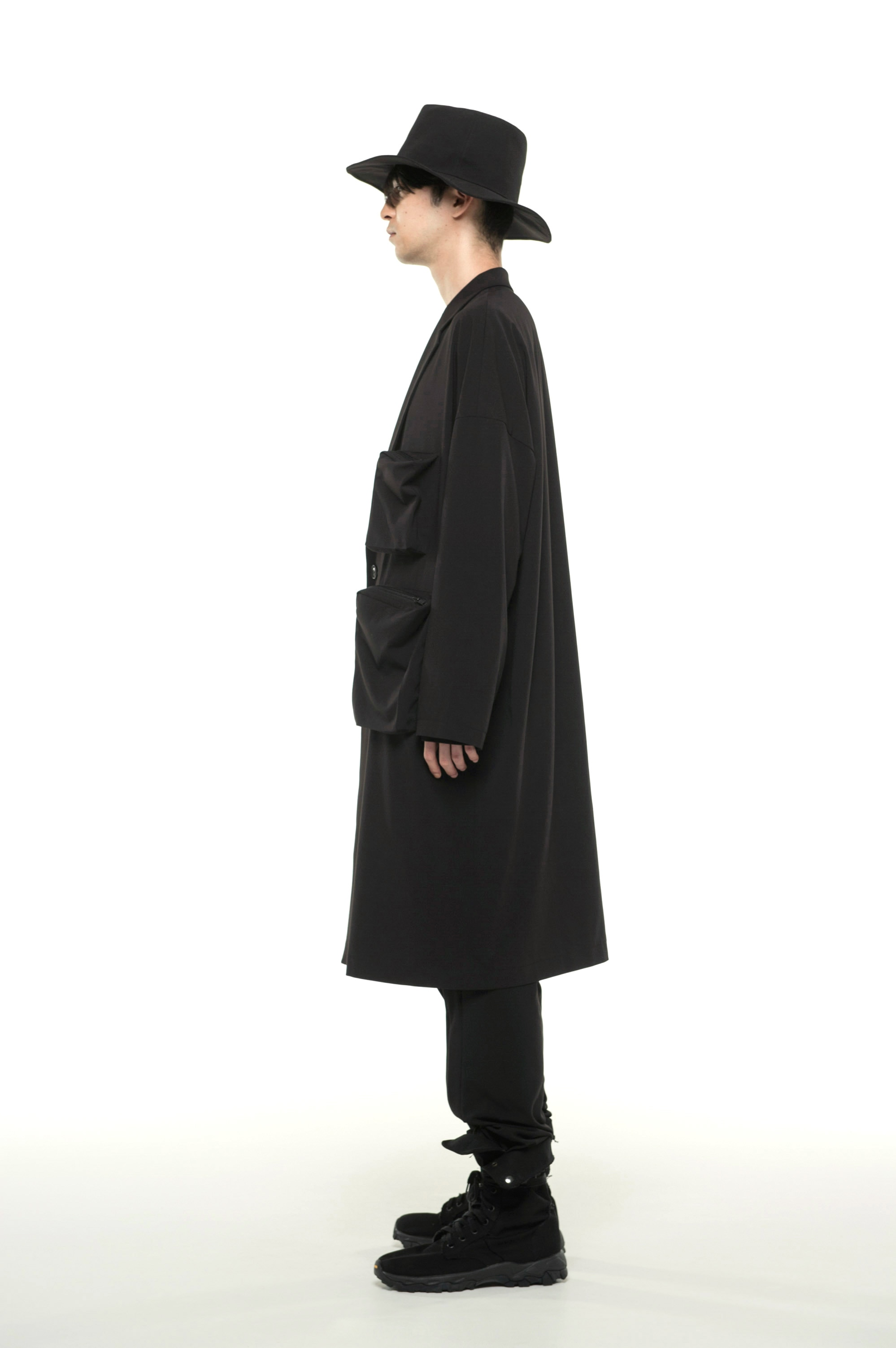 Pe / Rayon Gabardine Stretch Multi Pocket Big Chester Coat