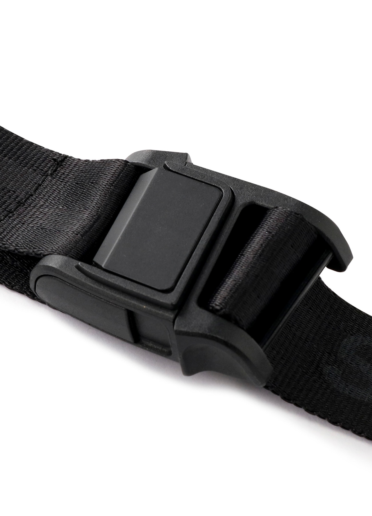 Magnetic Buckle Nylon Long Logo Belt