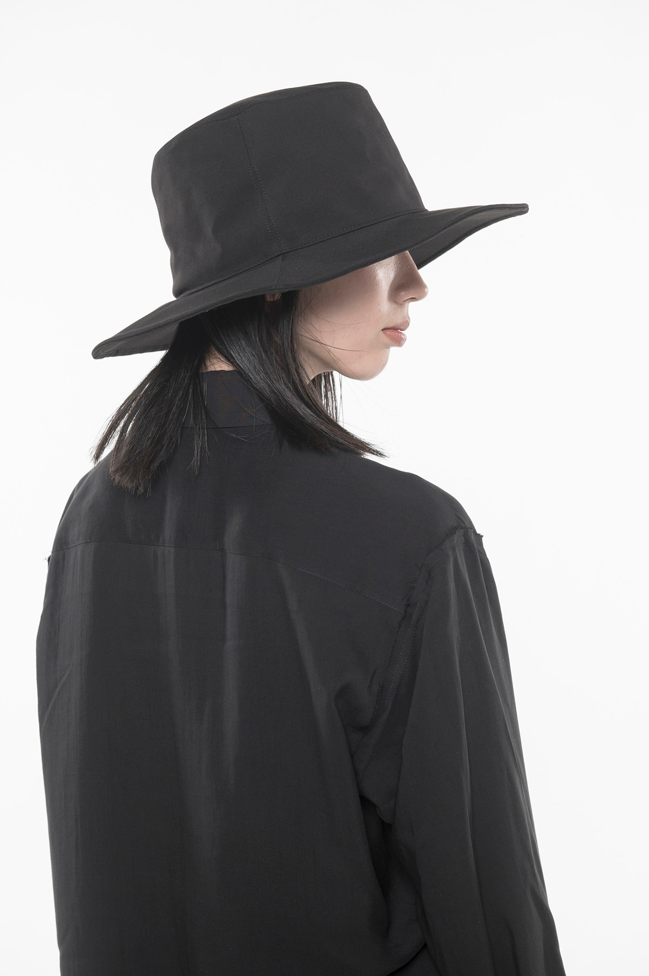 Pe / Rayon Gabardine Stretch Long Brim Hat