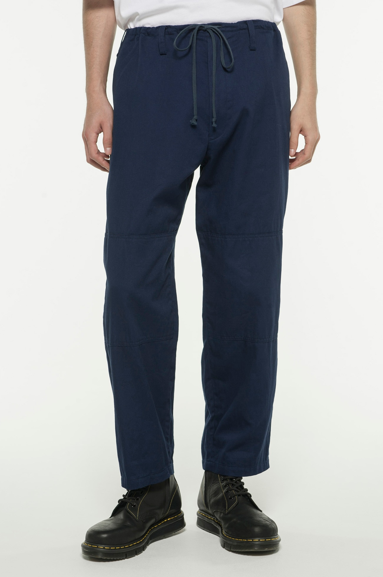 20 / Cotton Twill Waist String Double Knee Pants