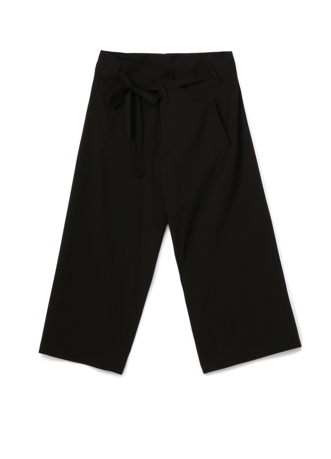Pe / Rayon Gabardine Stretch Waist Fold Wide Pants