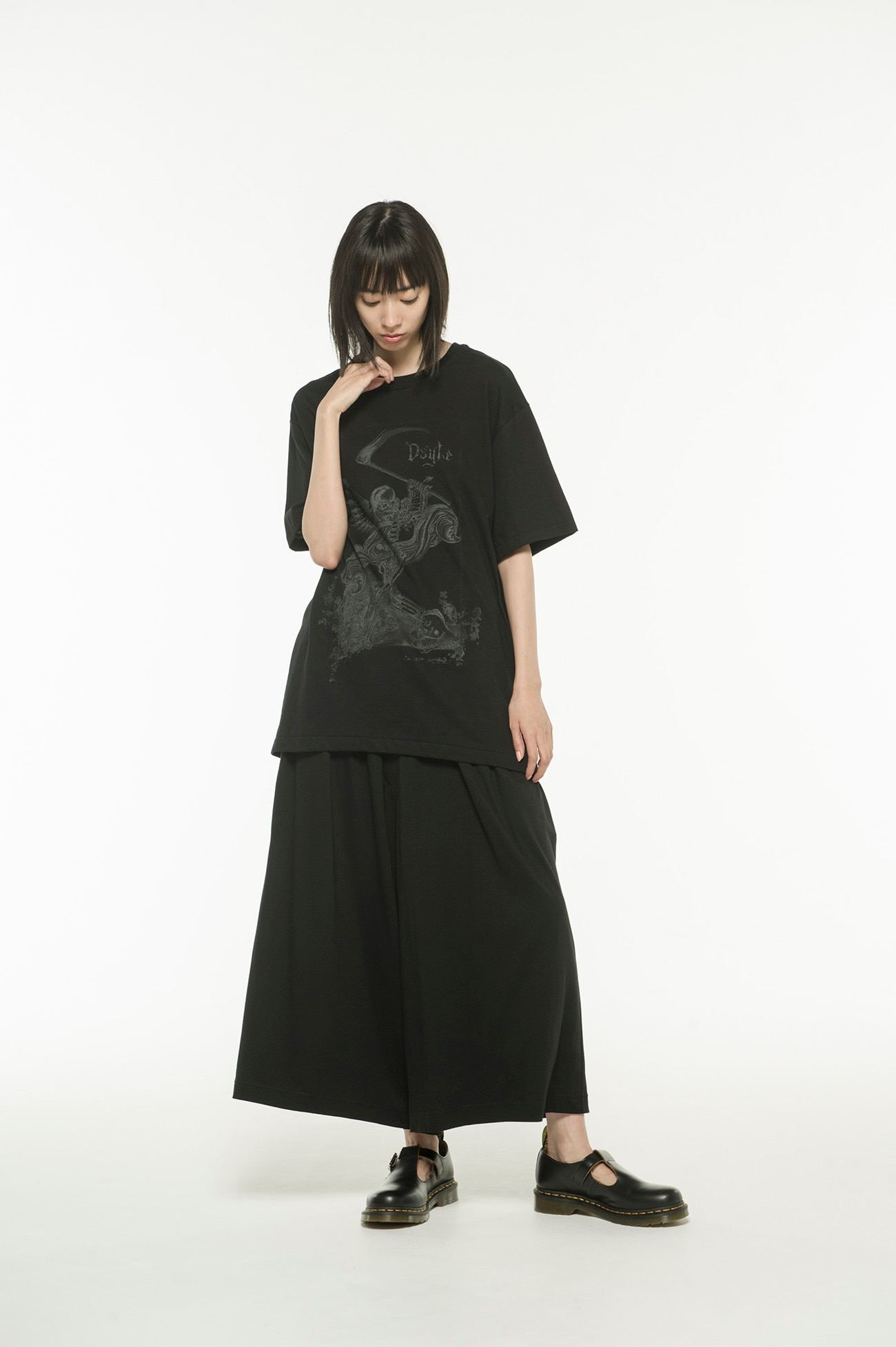 20 / CottonJersey Ds'yte Metal Skull T-Shirt