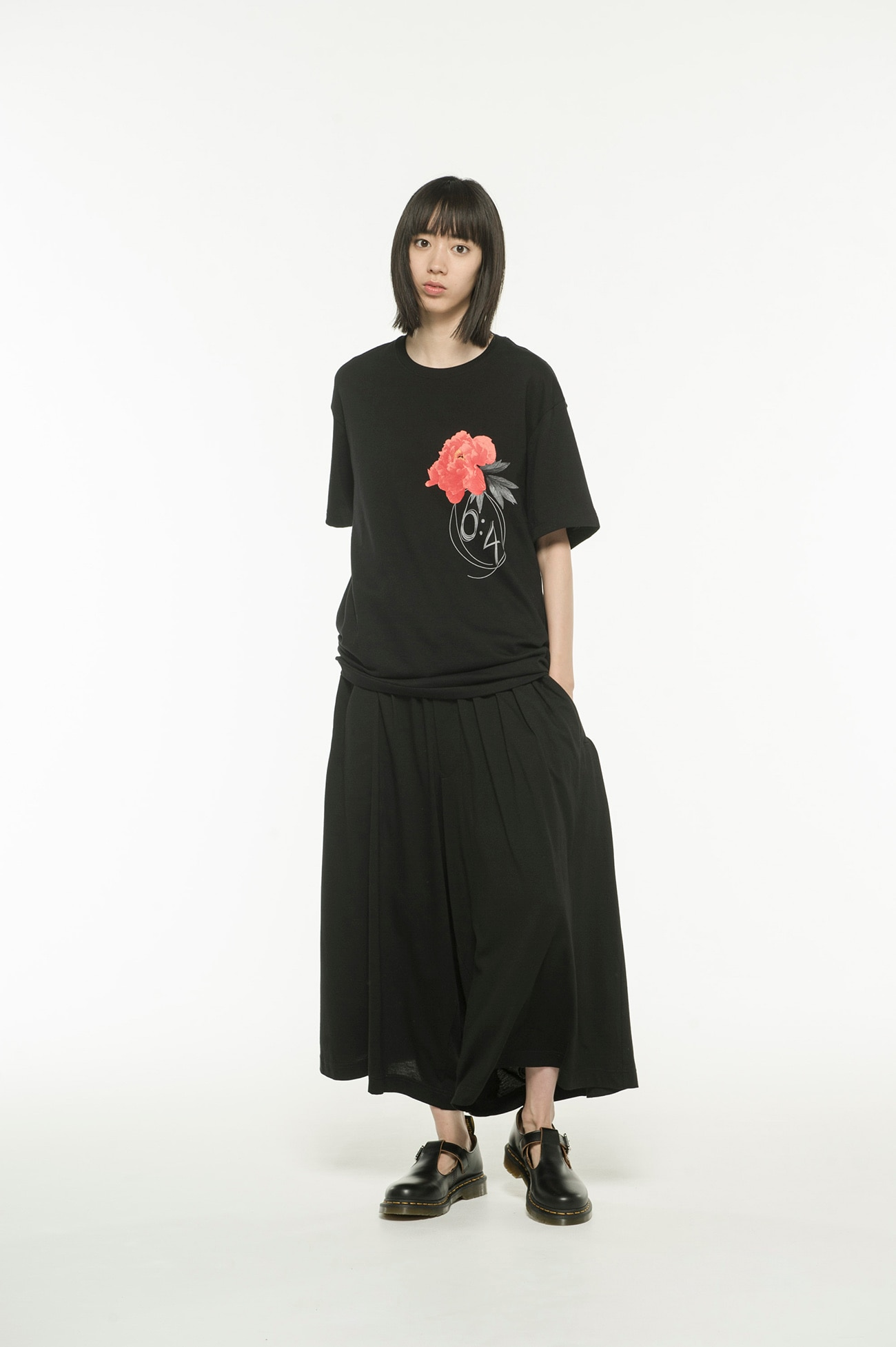 20/CottonJersey Red Peony Flower ×6:4 T-Shirt