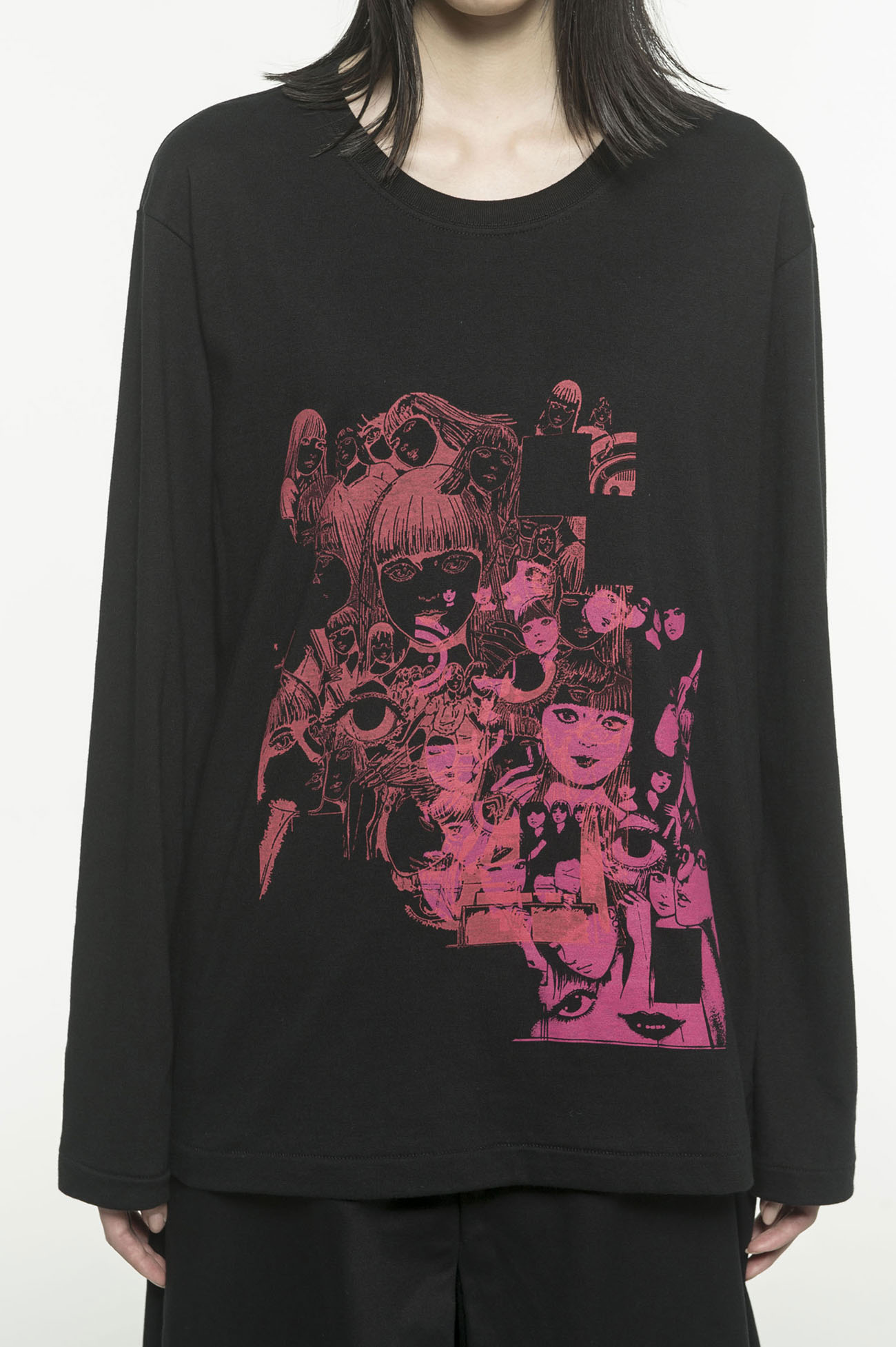 20 / CottonJersey Junji Ito `` BEST OF BEST '' Blind spotted Venus Long Sleeve T-Shirt