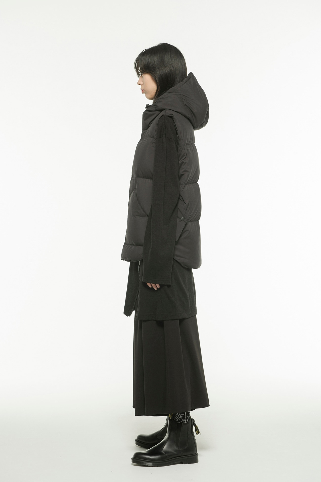 Pe Taffeta Hooded Down Vest