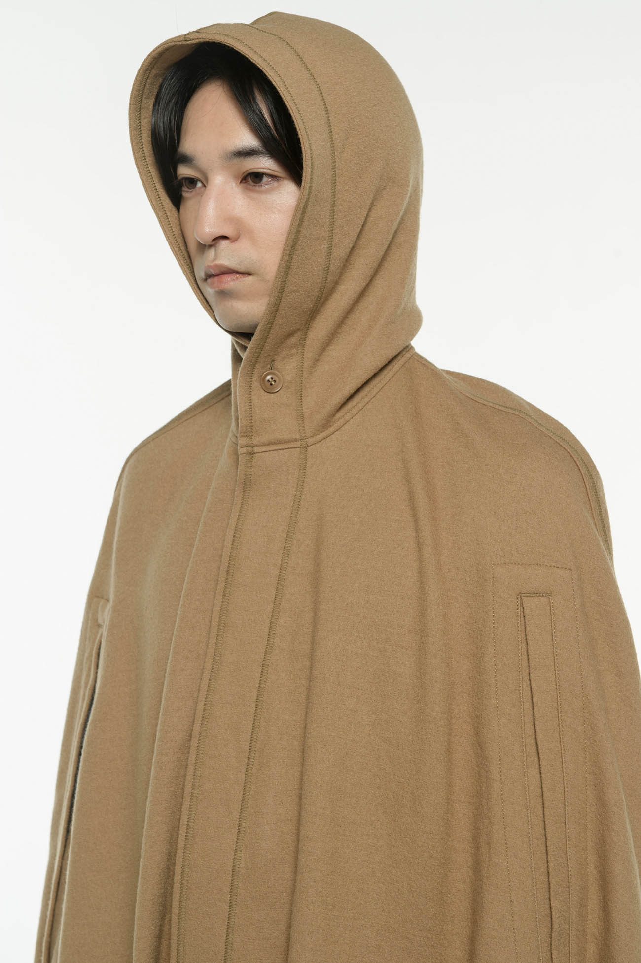 Compression Wool Mantle Hoodie