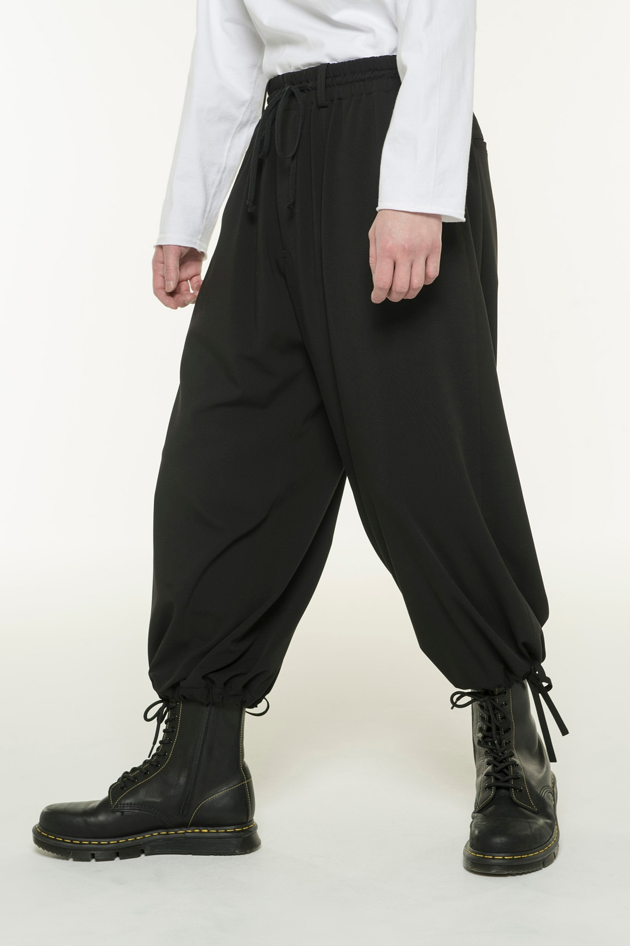 Pe/Rayon Gabardine Stretch Balloon Pants