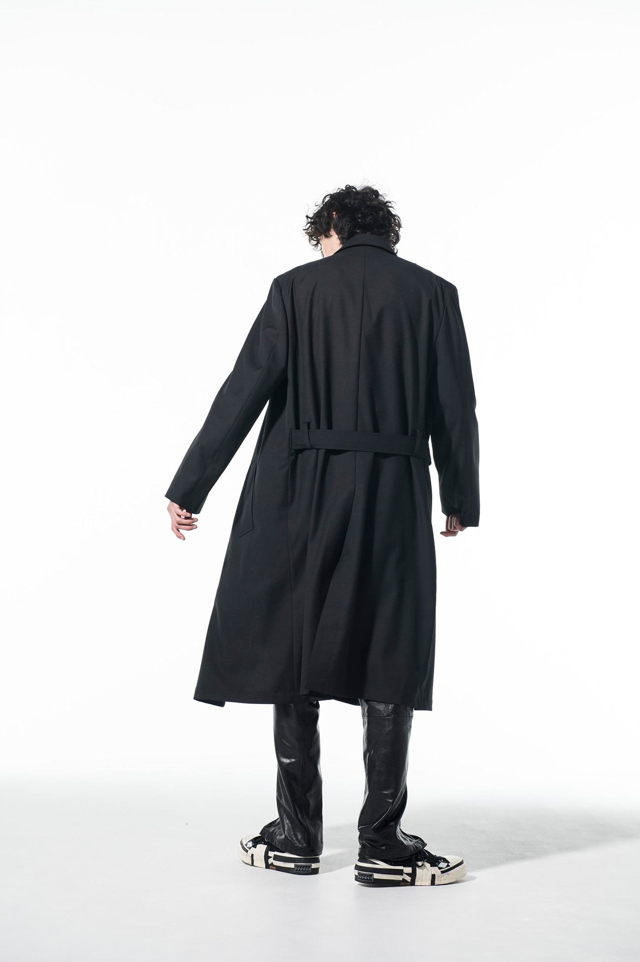 T/W Gabardine Washable Double Wrap Belt Coat