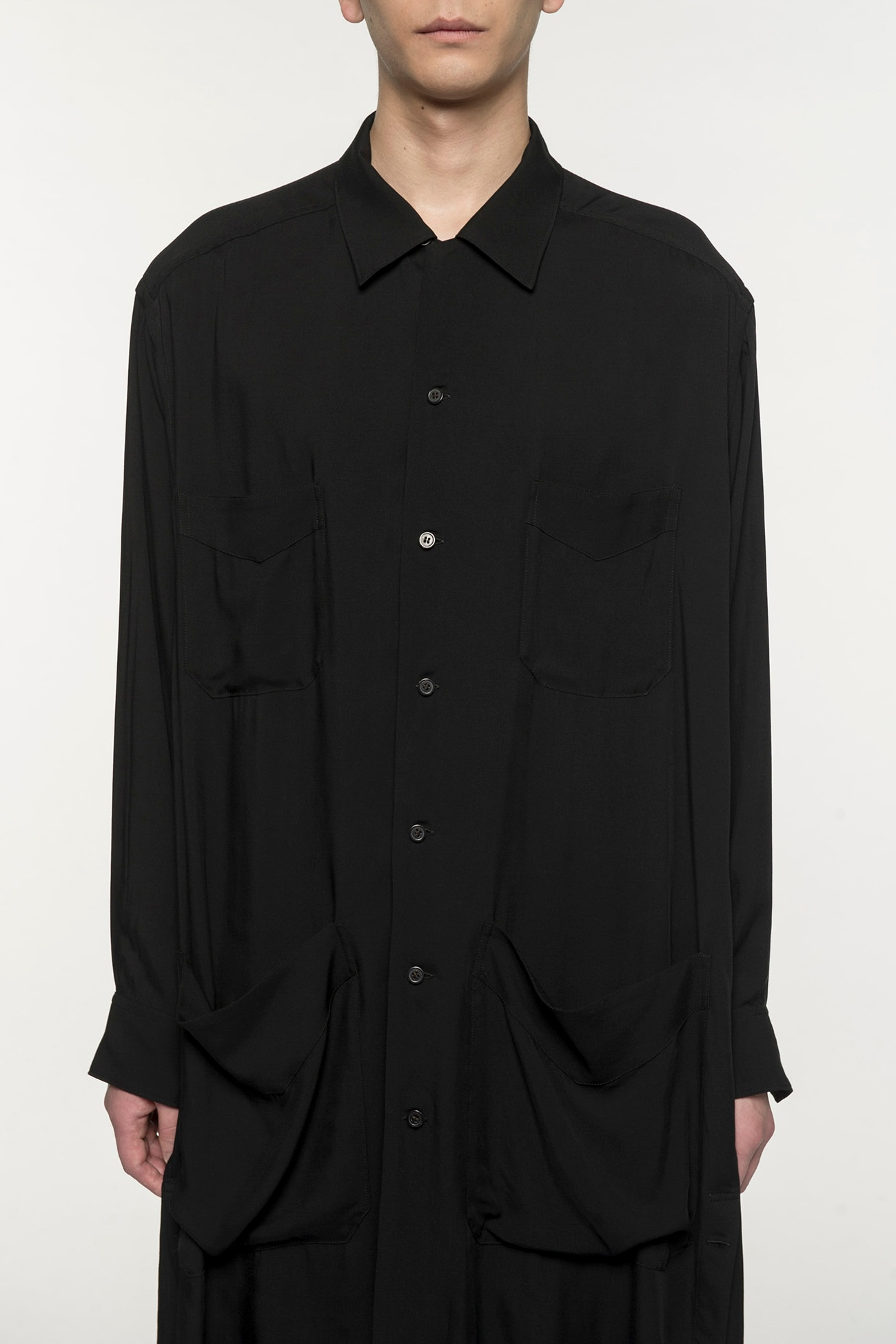 60s Ry / Span Twill Washer 4 Pocket Open Long Shirt